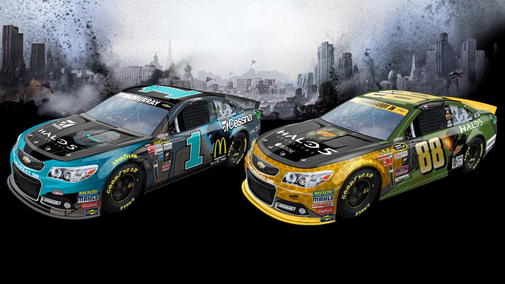 1920x1080 Dale Earnhardt Jr., Jamie McMurray cars to have 'Halo' schemes | NASCAR |  Sporting News