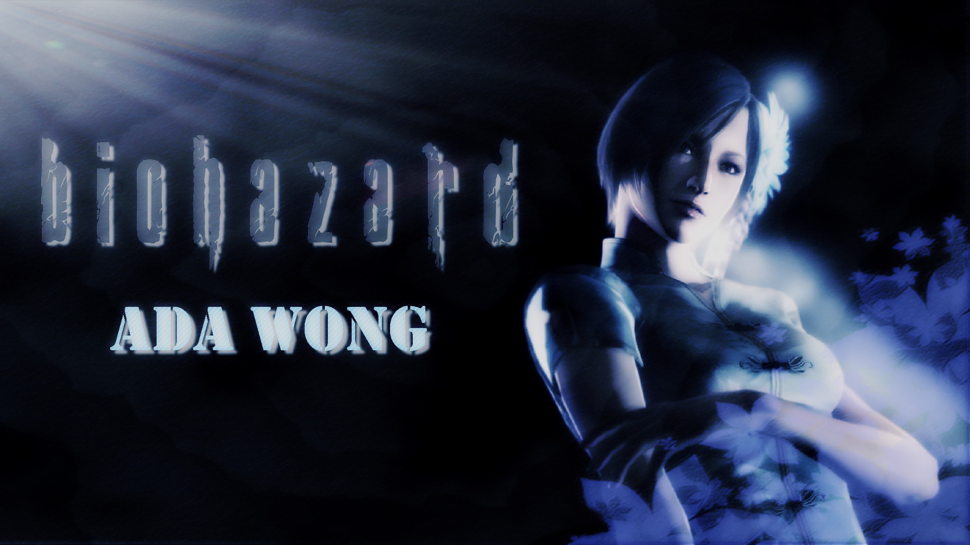 1920x1080 ... Resident Evil 6 Ada Wong Pretty Blue by AdeptDesign