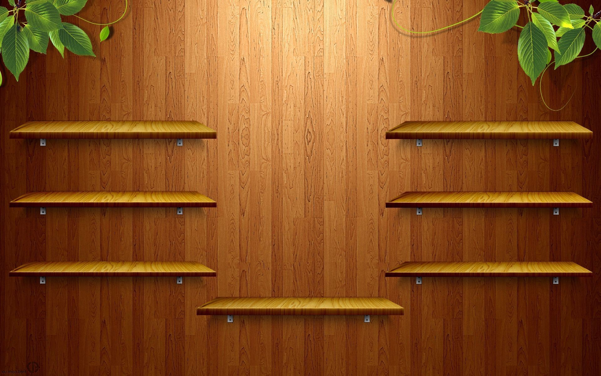 1920x1200 ... Wooden shelves