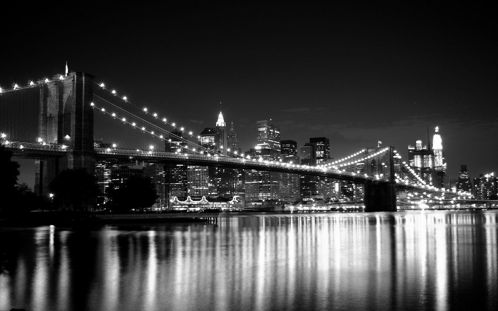 1920x1200 New York City Wallpaper Black And White