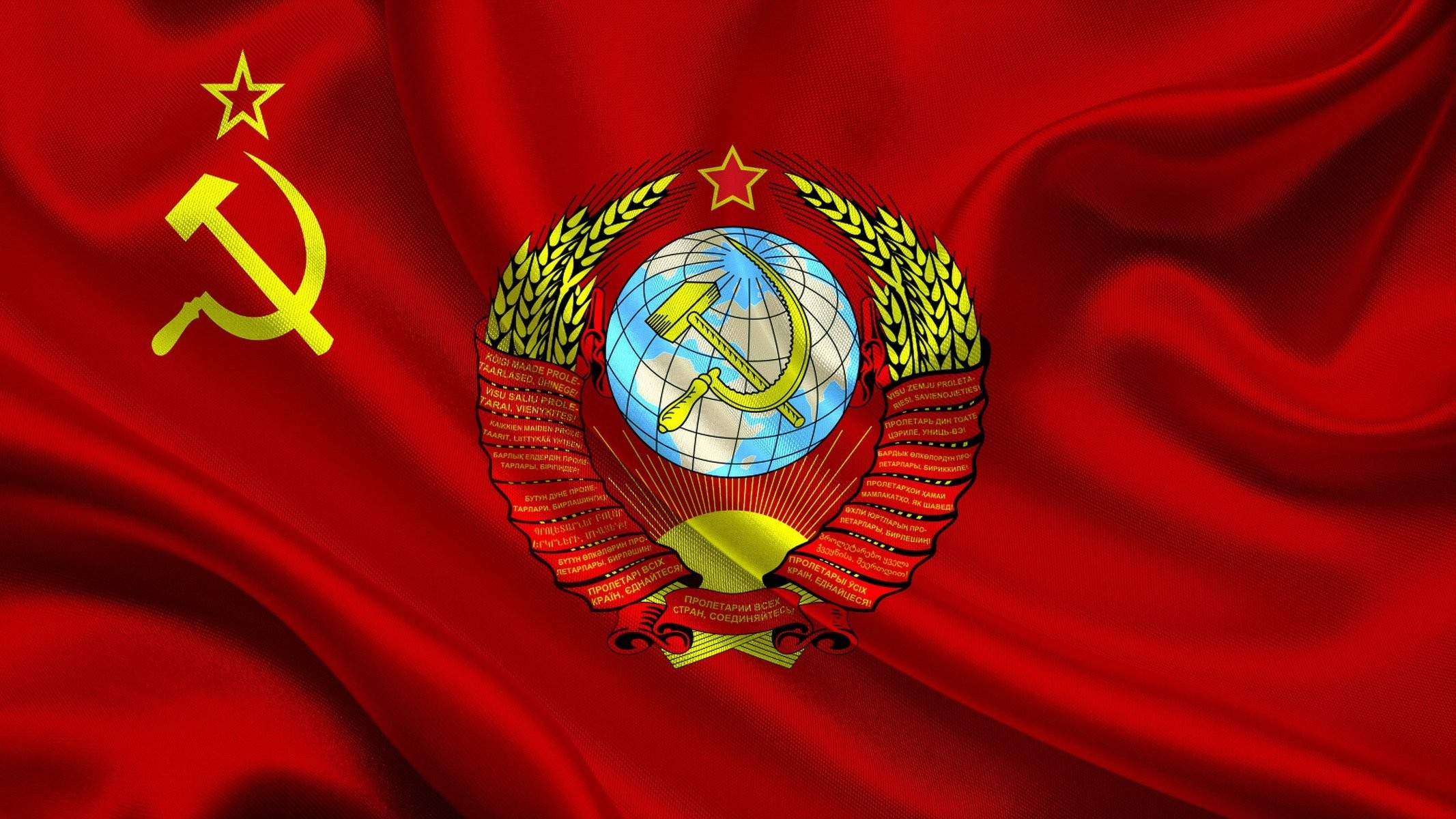2133x1200 flag soviet union coat of arms soviet union