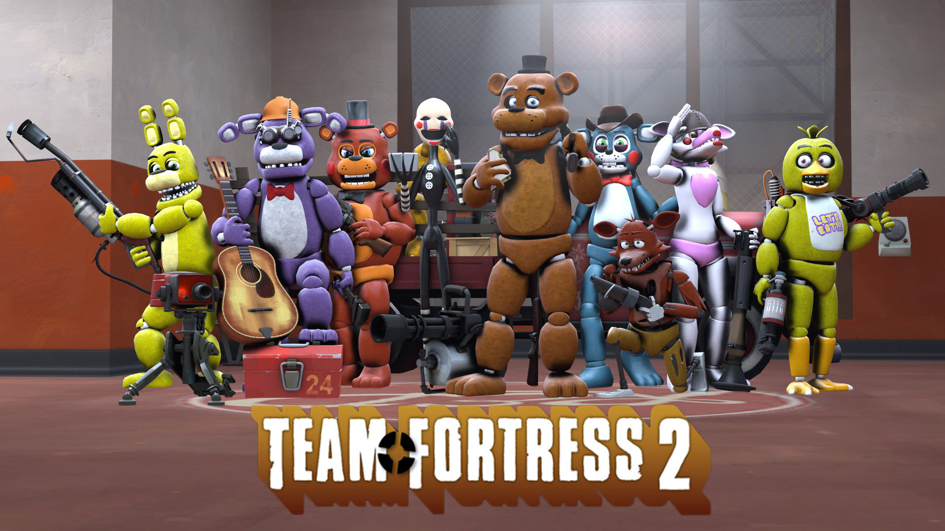 1920x1080 FNAF and TF2 Crossover. by TalonDang on DeviantArt