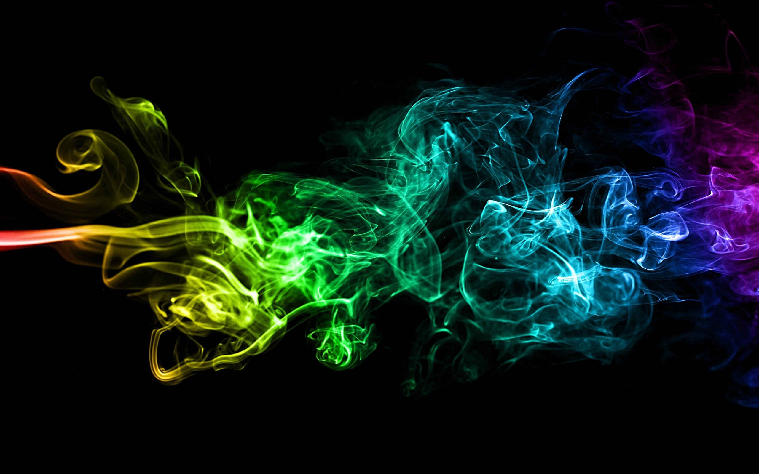 2560x1600 nice Abstract Colorful Smoke Art Background Image