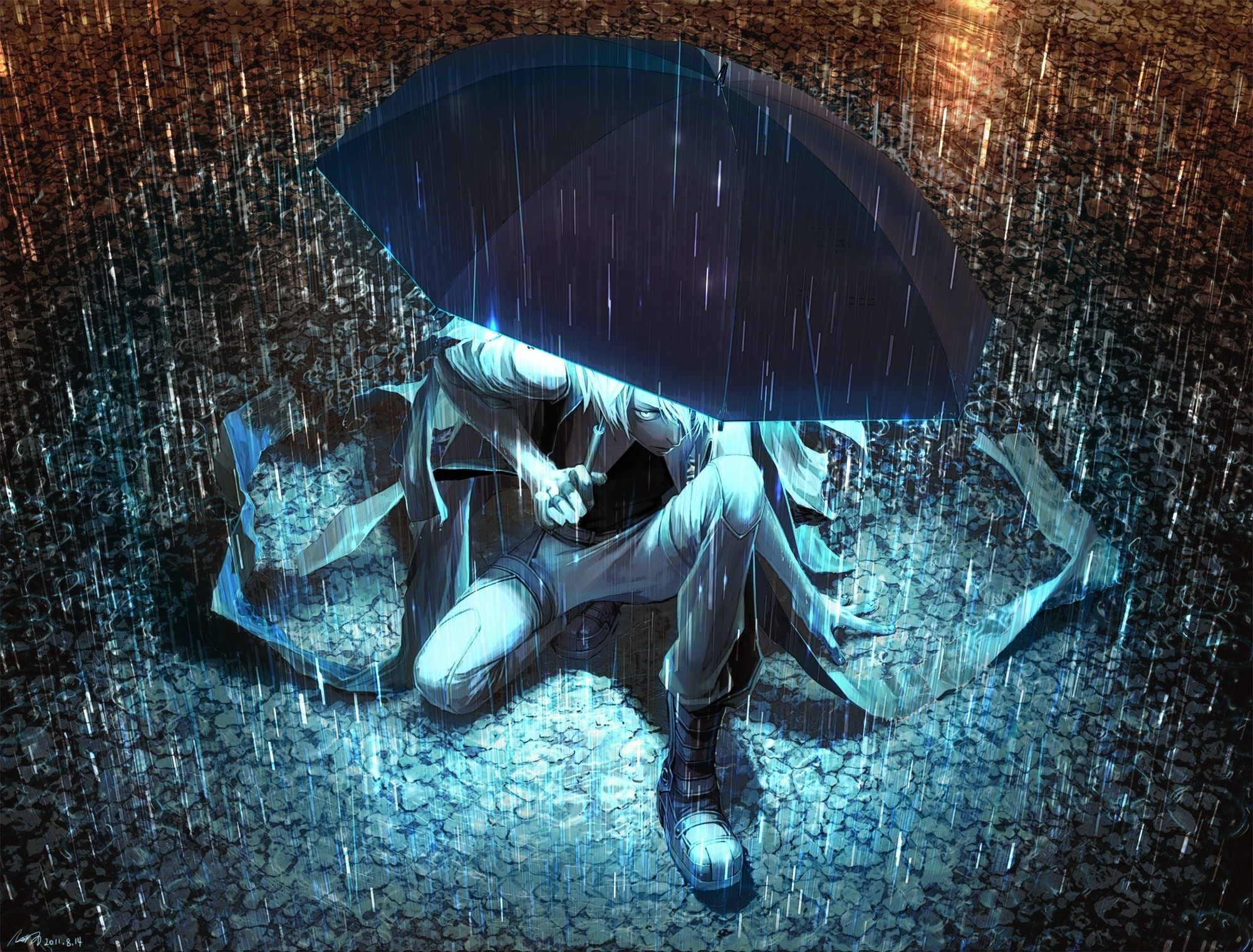 2000x1519 Umbrellas Anime Rain · anime artwork makoto shinkai the garden of words