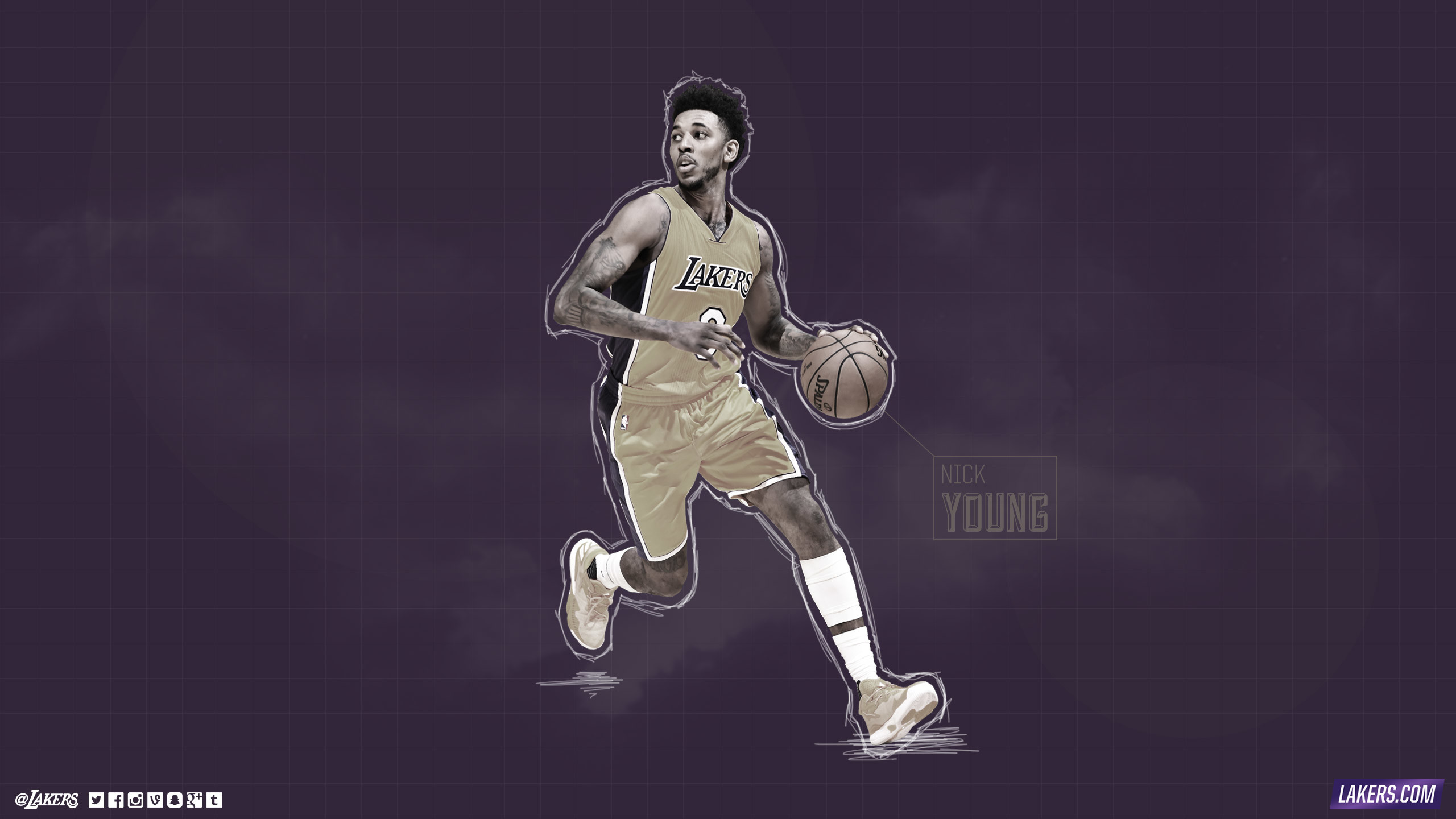 2560x1440 Nick Young Player Wallpaper