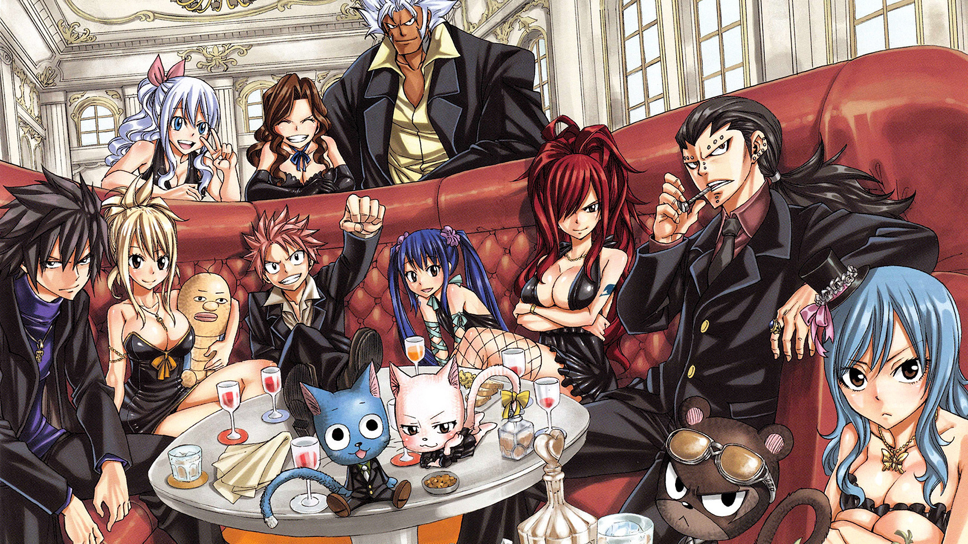 1920x1080  Anime - Fairy Tail Gray Fullbuster Panther Lily (Fairy Tail)  Gajeel Redfox Cana