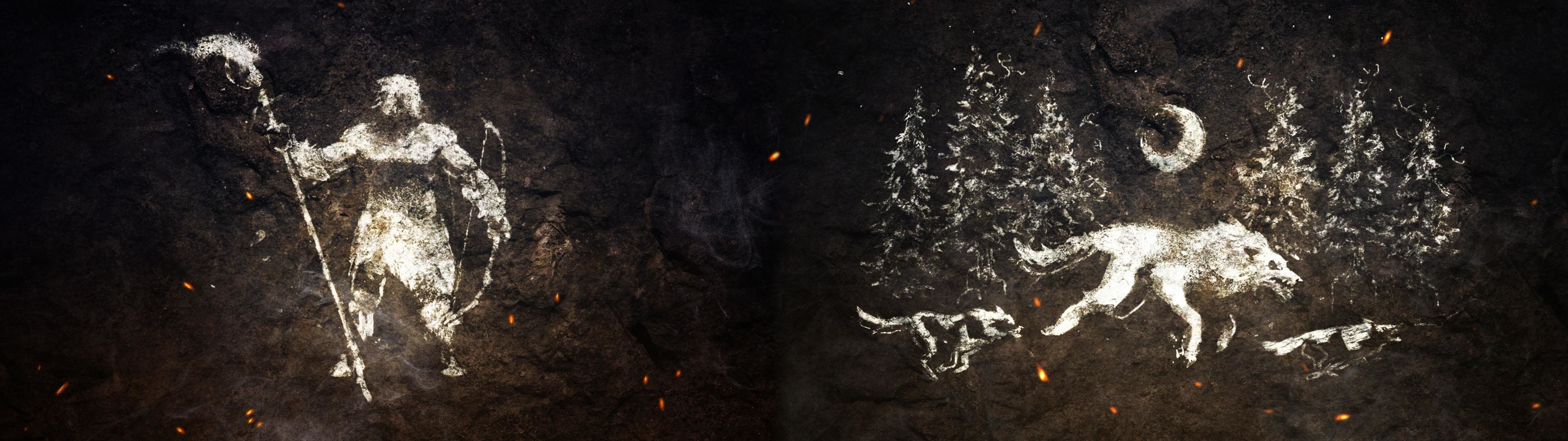 3840x1080 Made a FarCry: Primal Dual Monitor Wallpaper [] ...