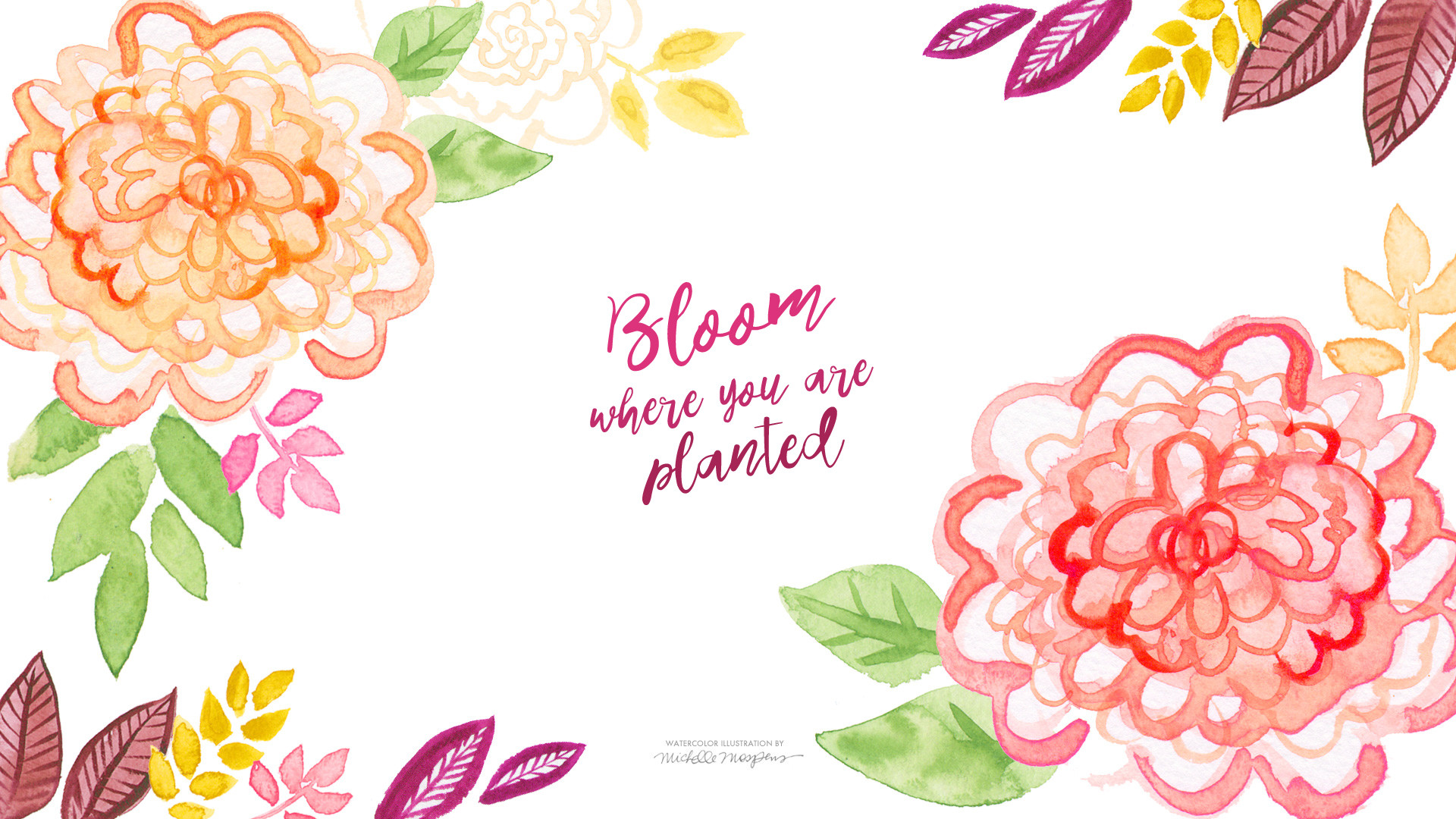 Watercolor Flowers Wallpaper 51 Images