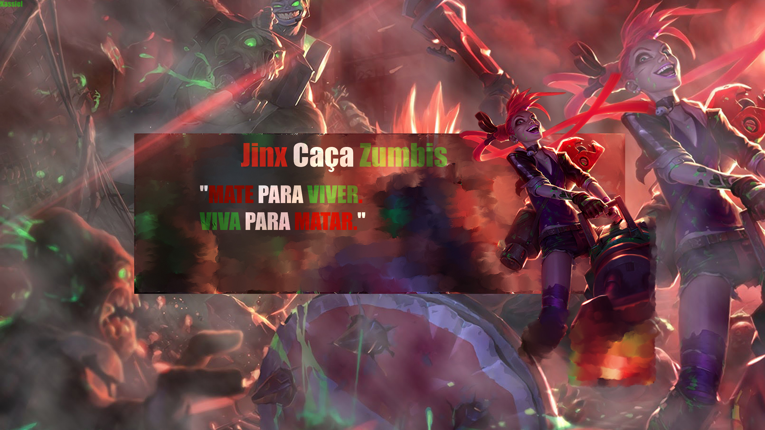 2560x1440 Slayer Jinx Wallpaper - Jinx Caça Zumbi Wallpaper. ""