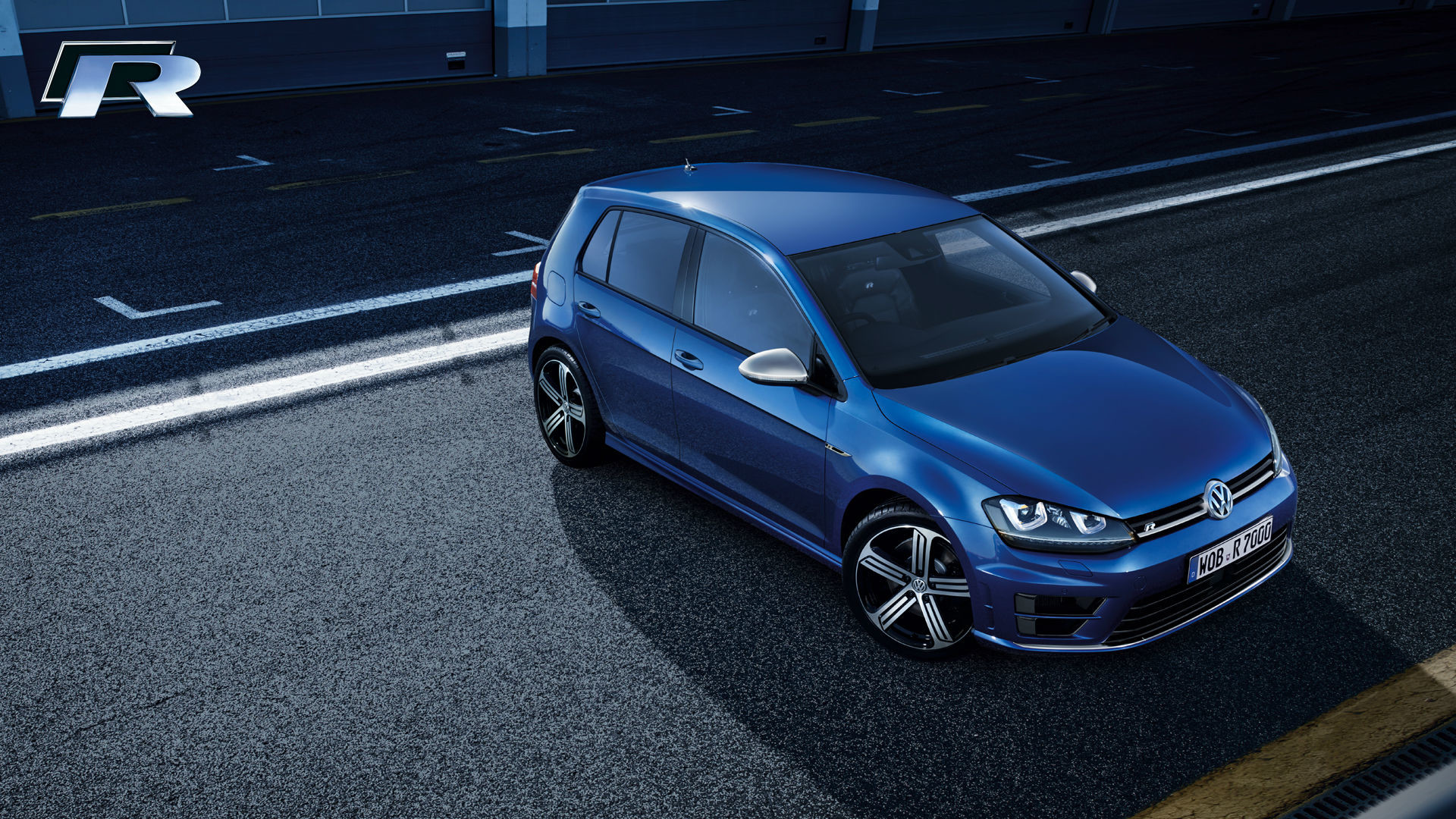 X  Volkswagen Golf R Sport Car Wallpaper Hd