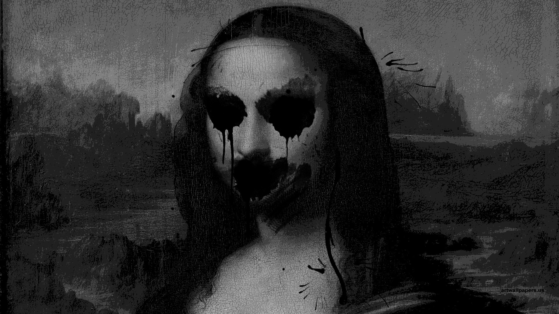 1920x1080 Lisa Creepy Desktop Wallpapers Mona Lisa Creepy Desktop Backgrounds