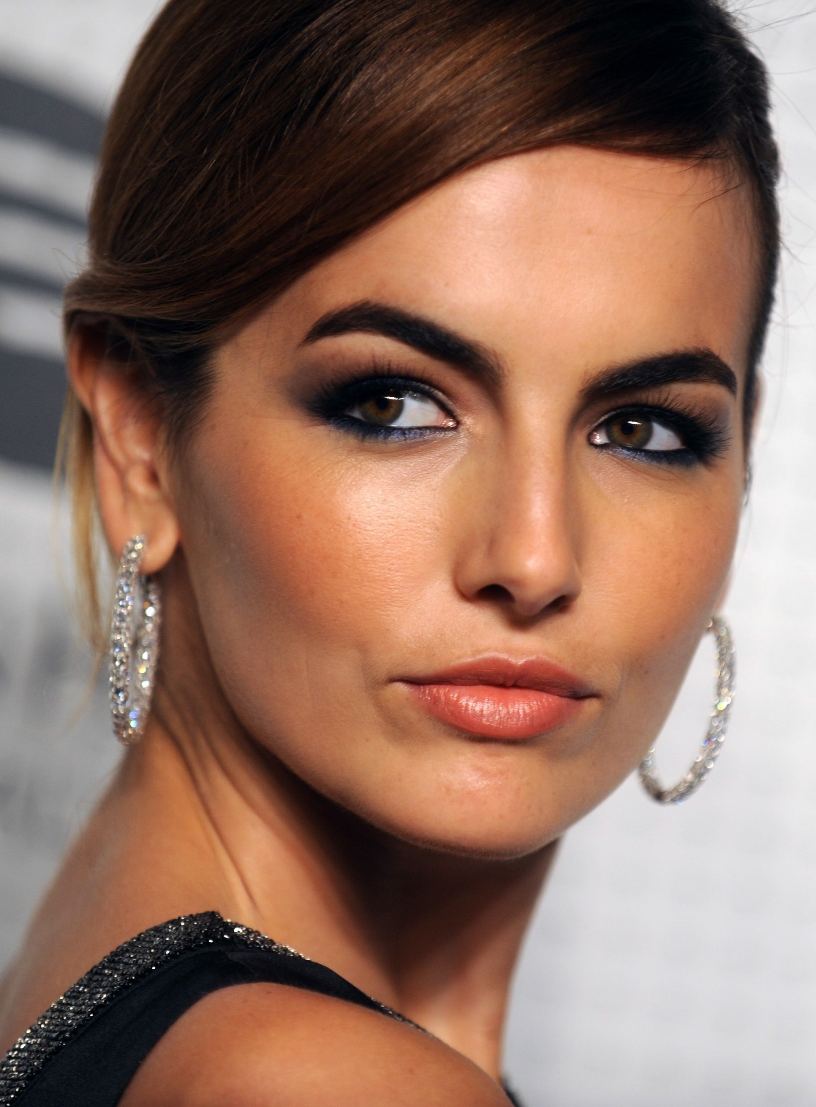 1635x2218 Camilla Belle in Dior black evening gown with sweep train | Guggenheim  International Gala Dinner Made