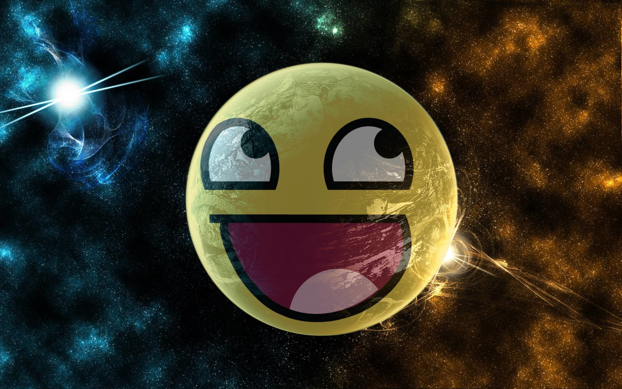 2560x1600 Awesome Smiley Wallpaper