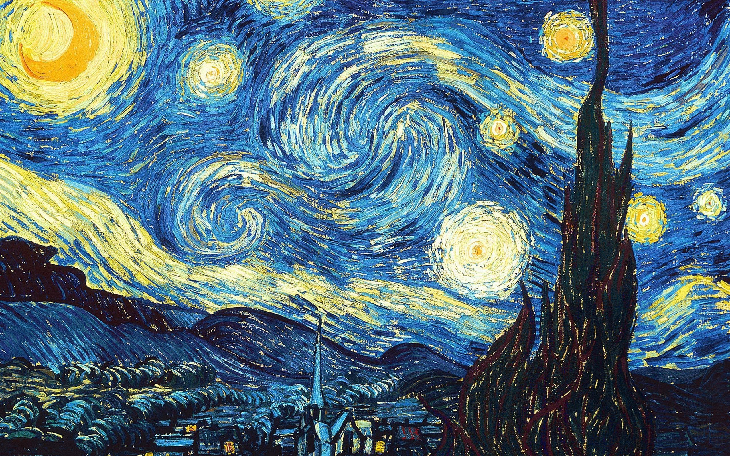 2560x1600  Van Gogh Starry Night Desktop Wallpaper | Van Gogh Gallery
