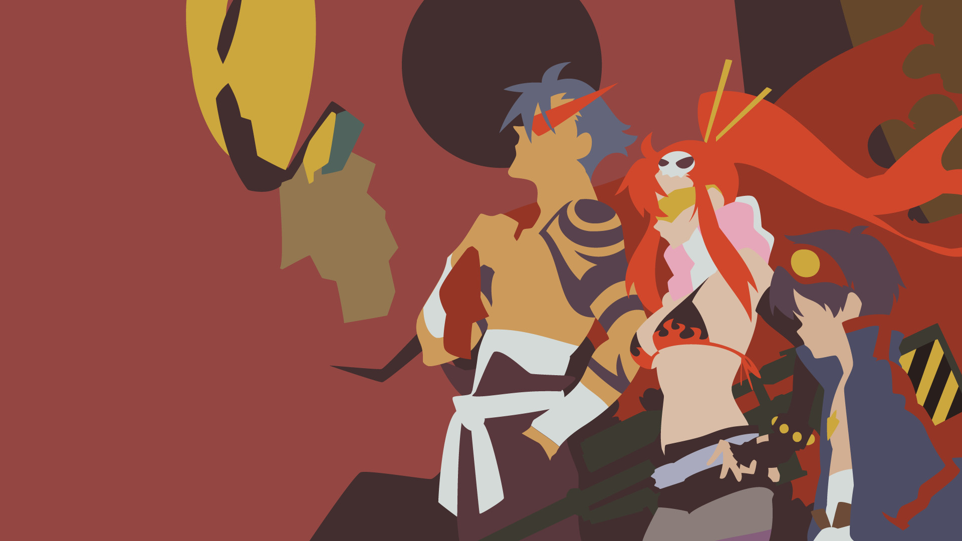 1920x1080 request tengen toppa gurren lagann by krukmeister fan art wallpaper .