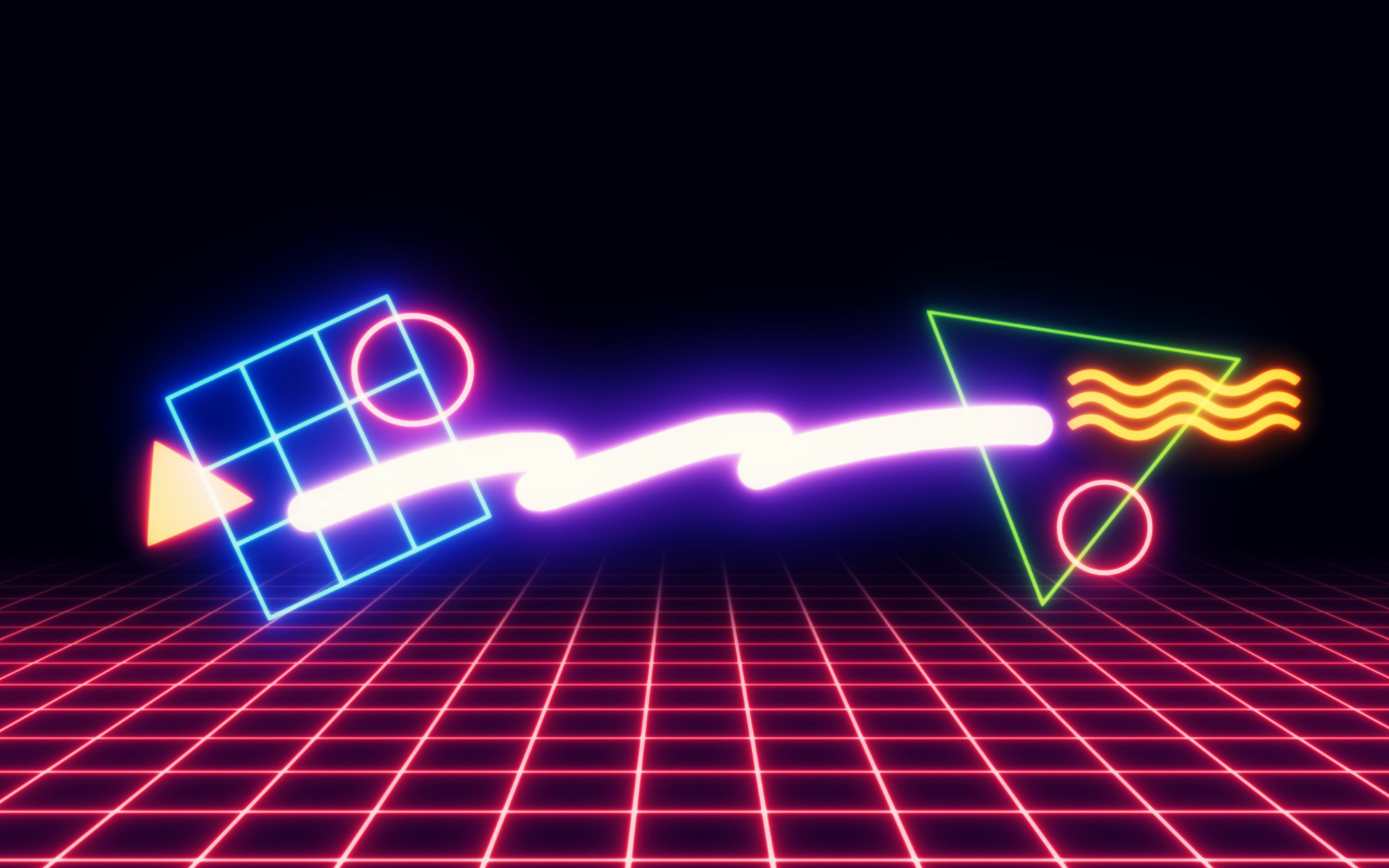 2000x1250 '80s Neon Shapes/Wallpapers on Behance