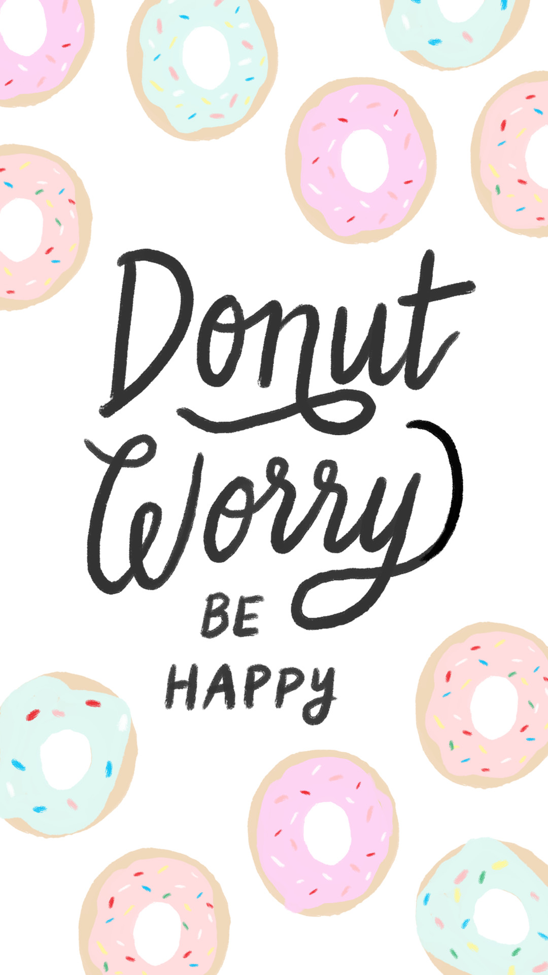 1080x1920 iphone-donut-worry.png (1080×1920) | Wallpapers | Pinterest | Wallpaper,  Donuts and Phone
