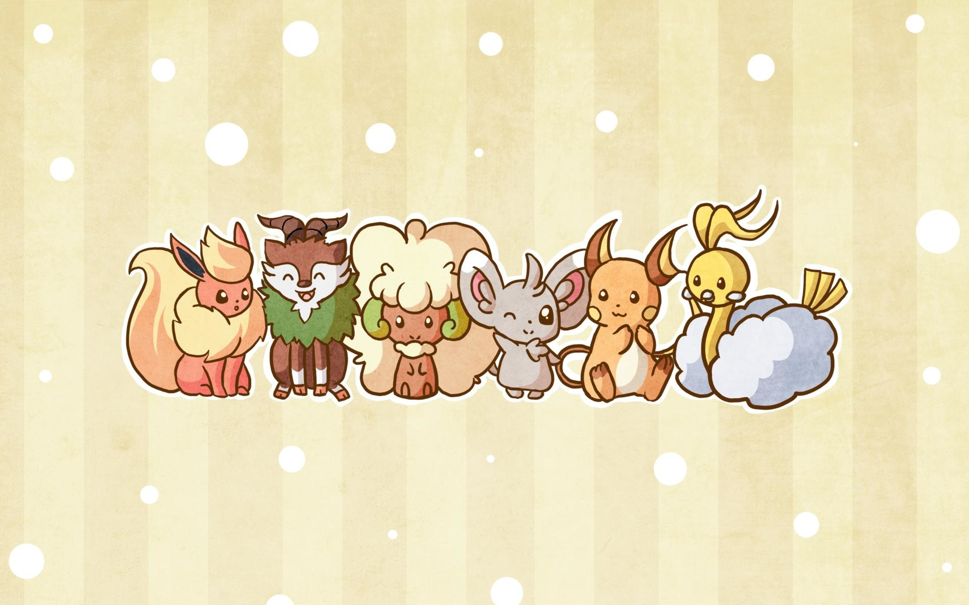 1920x1200 [ART] My cute and fluffy team wallpaper!