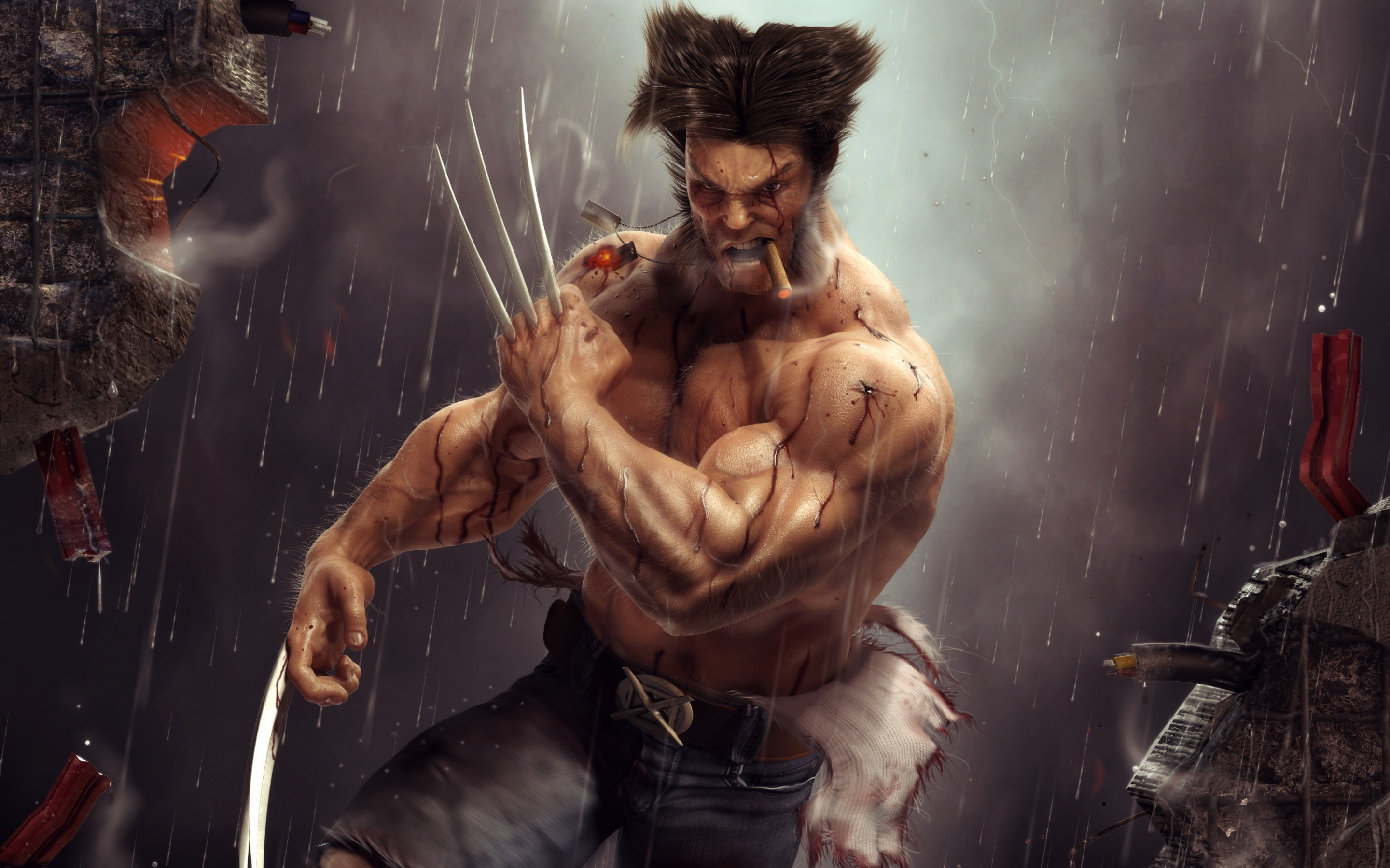 2880x1800 Logan, Wolverine, Artwork,