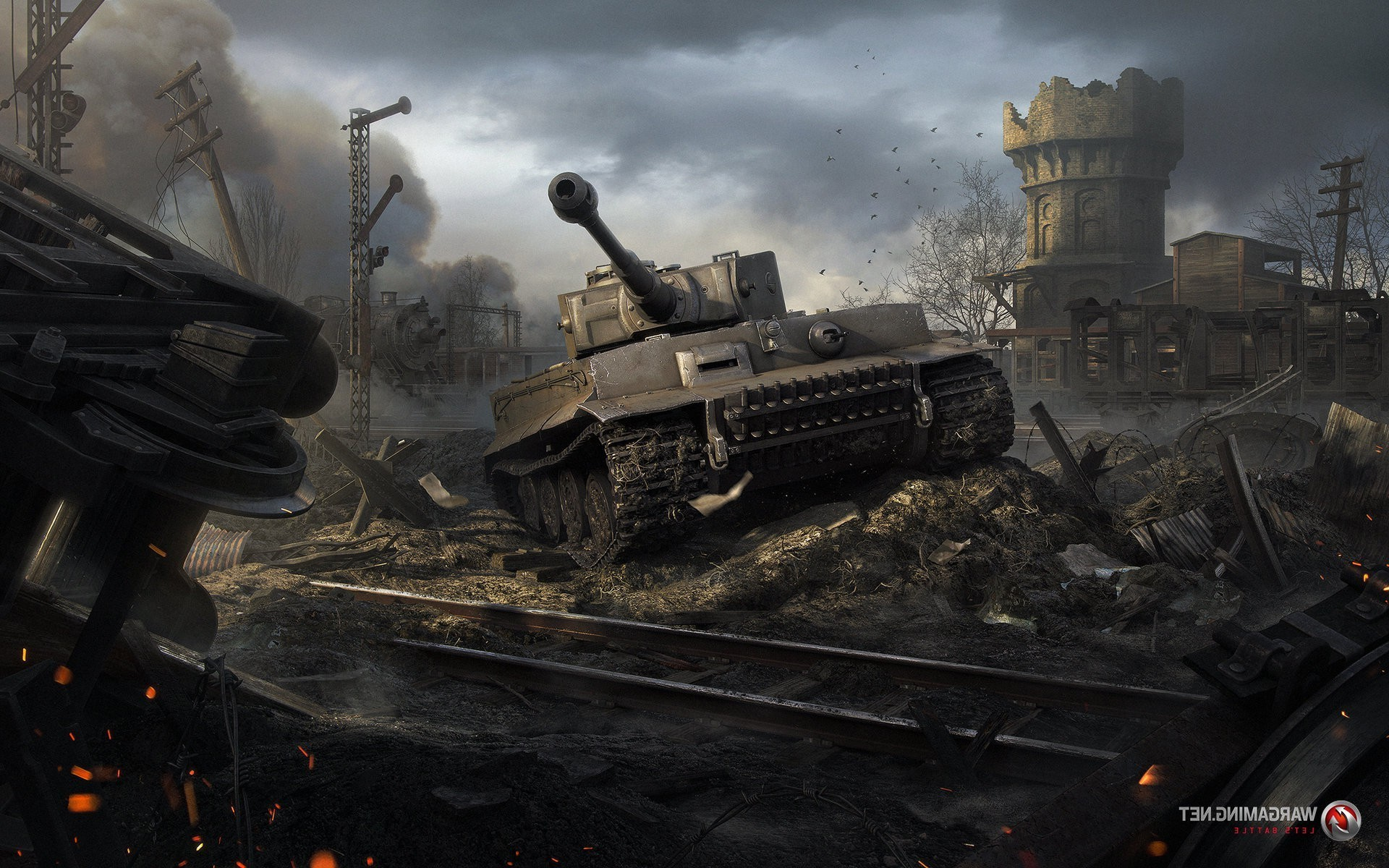 1920x1200 World Of Tanks Video Games Tiger I War II