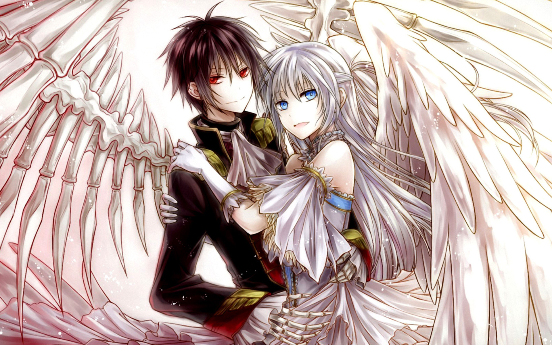 1920x1200 Beautiful Anime Couple Wallpaper HD Images One 736A 552