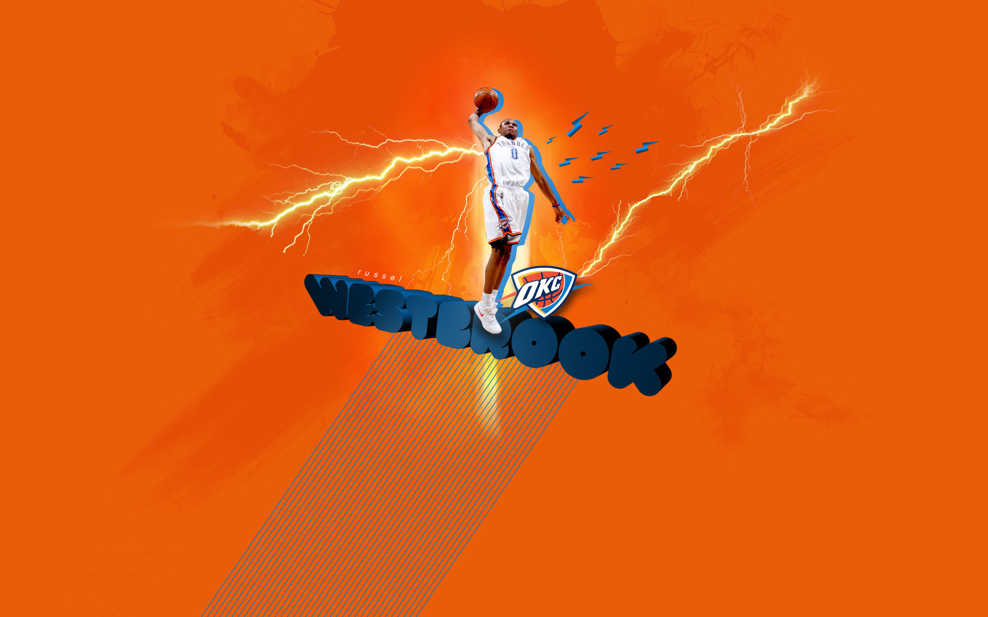 1920x1200 Russell Westbrook  Widescreen Wallpaper