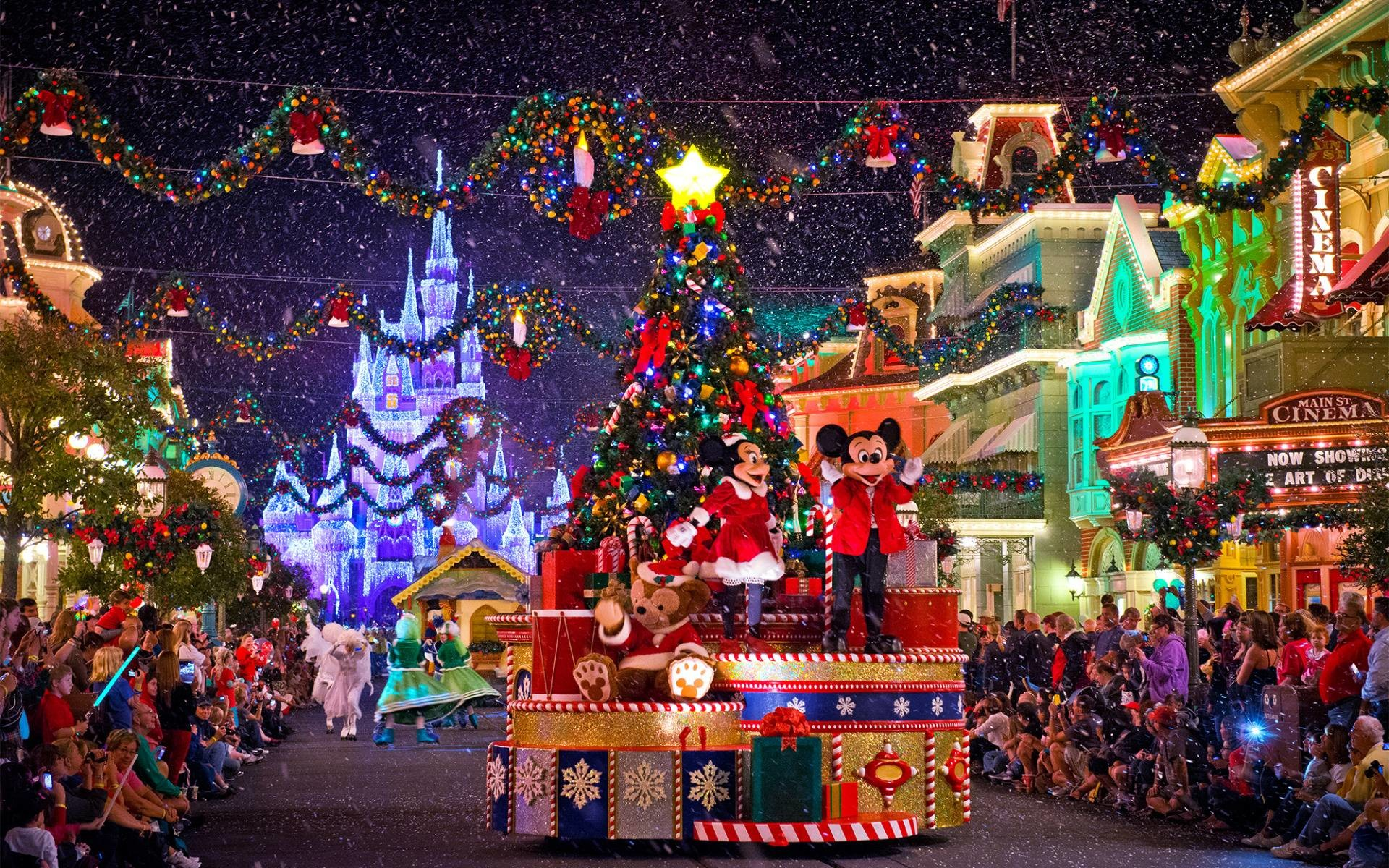 1920x1200 Disney Christmas Parade On Main Street Widescreen Wallpaper
