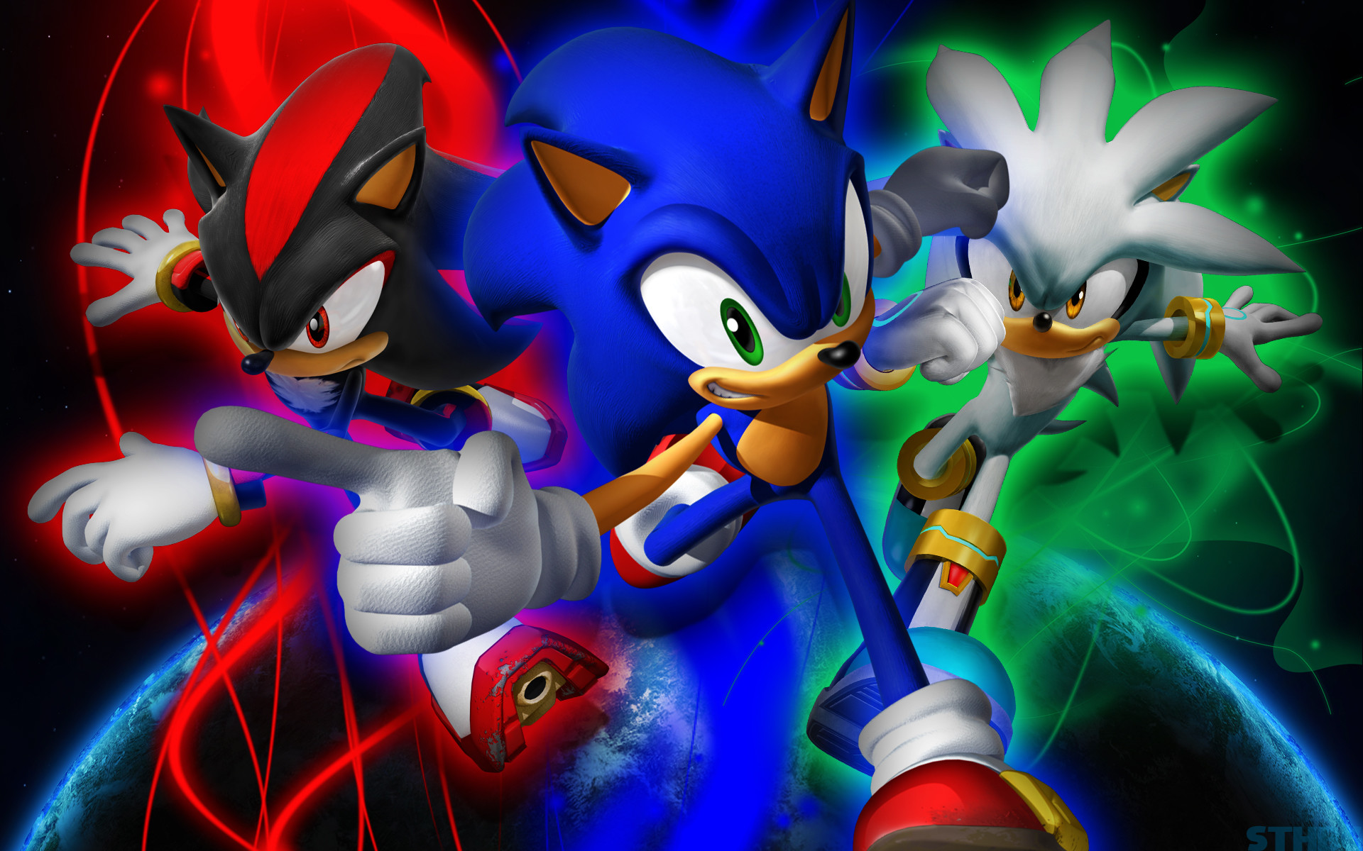 1920x1200 ... SonicTheHedgehogBG Sonic,Shadow And Silver - Wallpaper by  SonicTheHedgehogBG