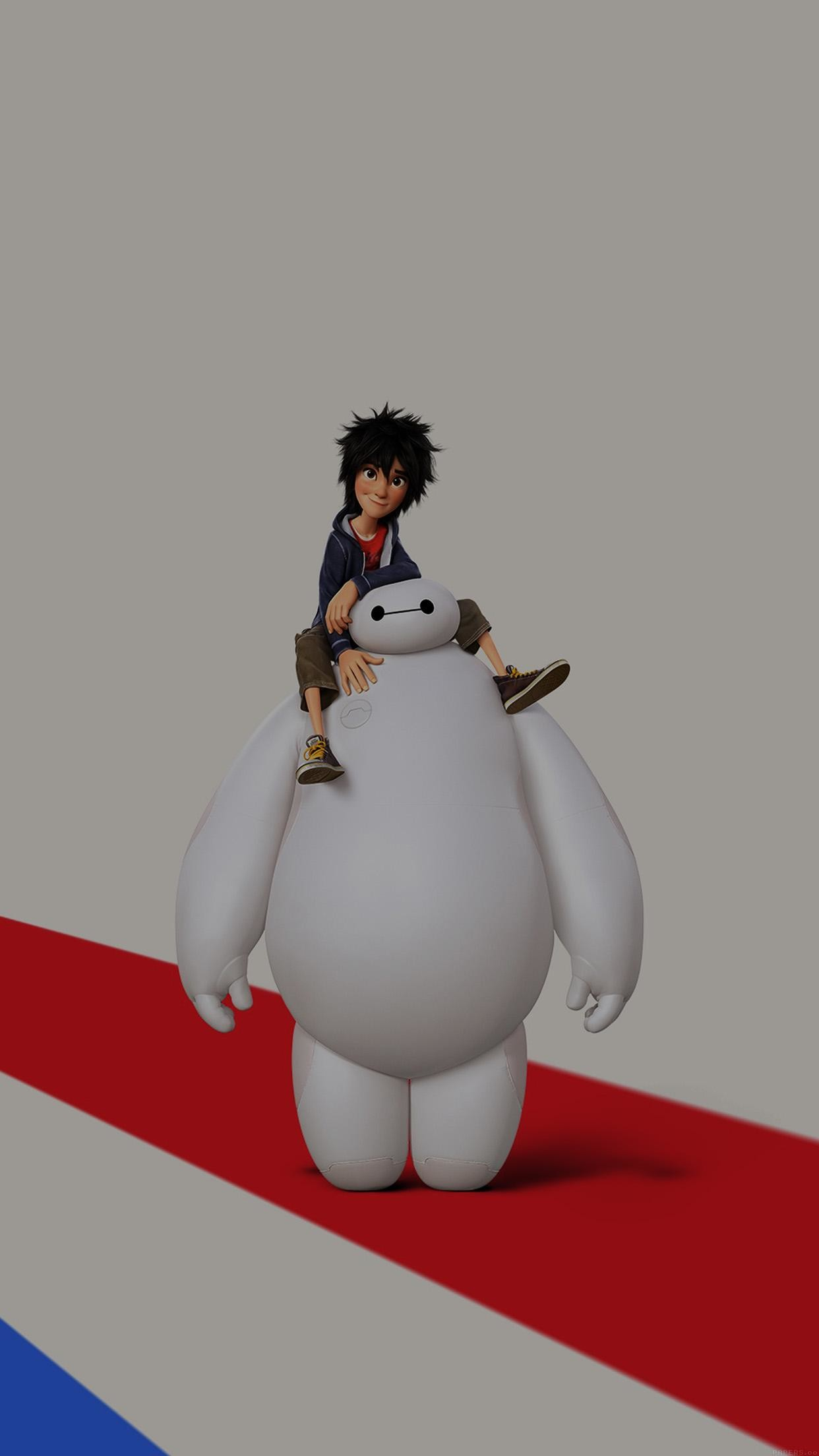 1242x2208 Big Hero 6 Cute Dark Disney Art Illust