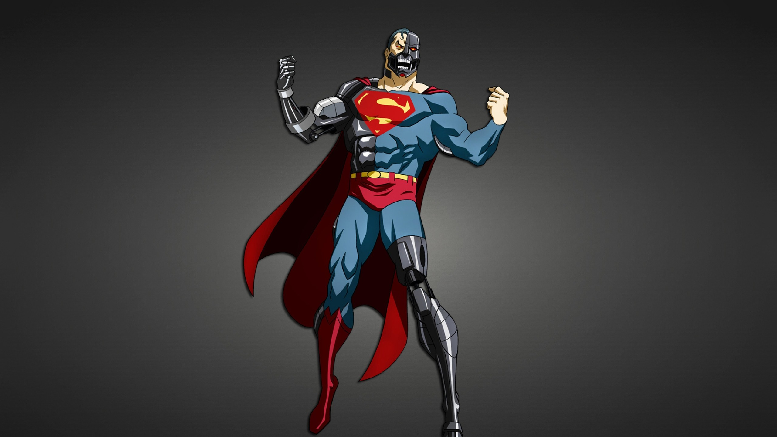 2560x1440 Preview wallpaper superman, superhero, cyborg