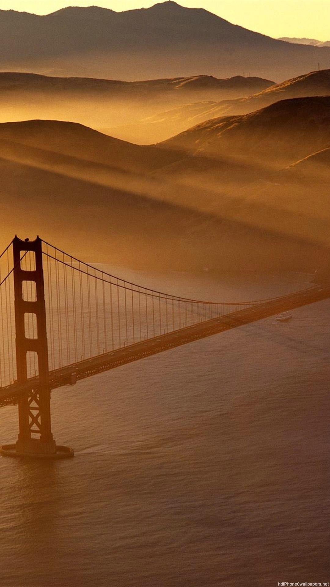 1080x1920 Bridge Gold Nature San Francisco IPhone 6 Wallpapers HD