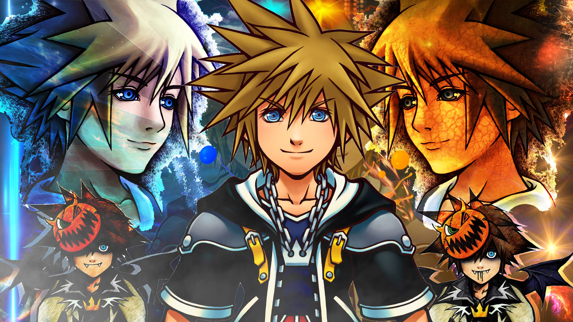 1920x1080 ... Kingdom Hearts 2 Sora Wallpaper by Soraa-game