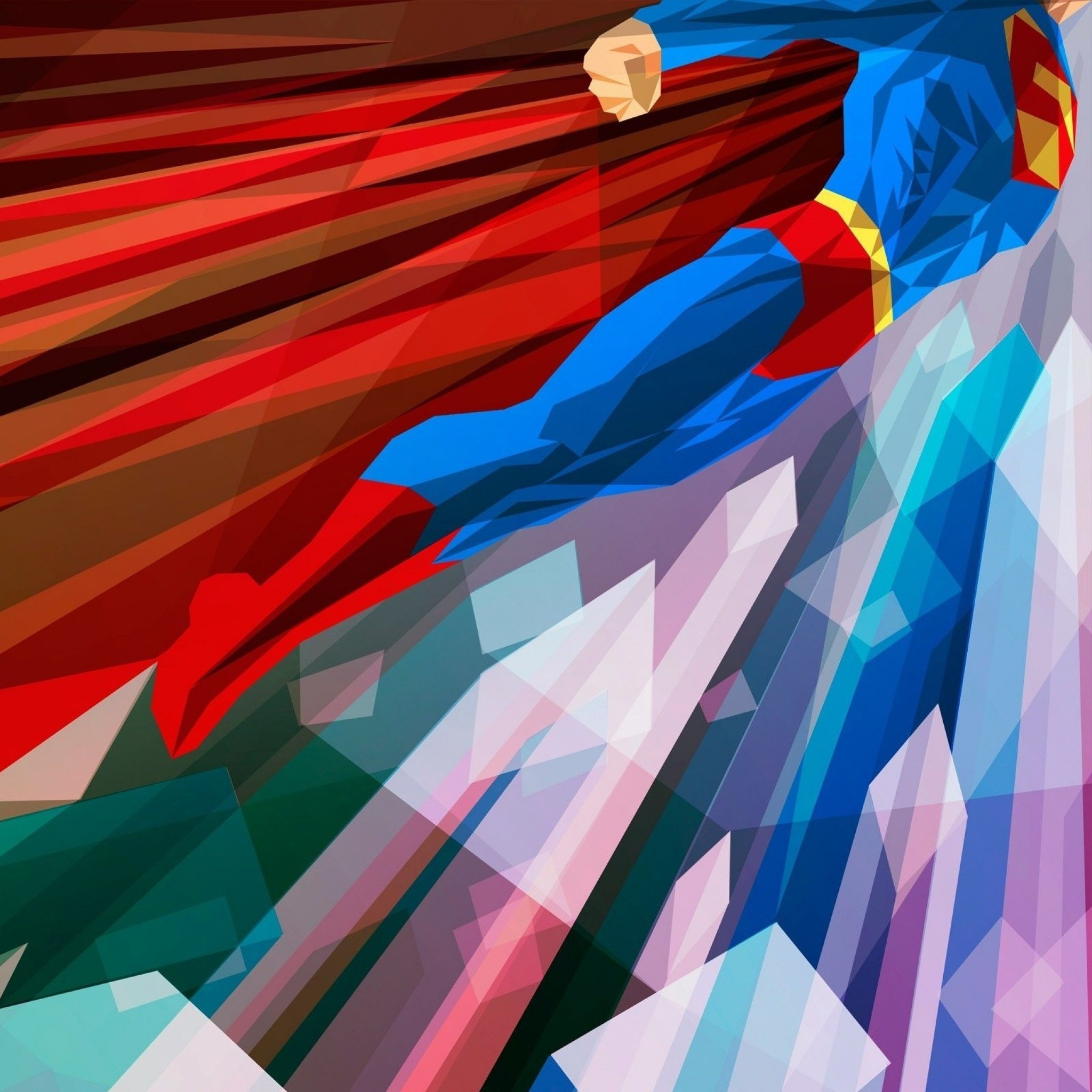 2048x2048 Preview wallpaper superhero, superman, bright