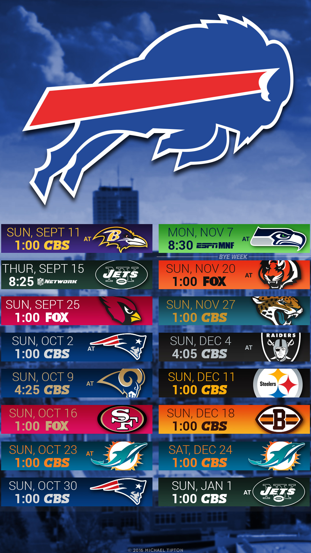 1080x1920 Buffalo Bills 2016 Schedule Logo Wallpaper Iphone 5 6 7 Galaxy S6