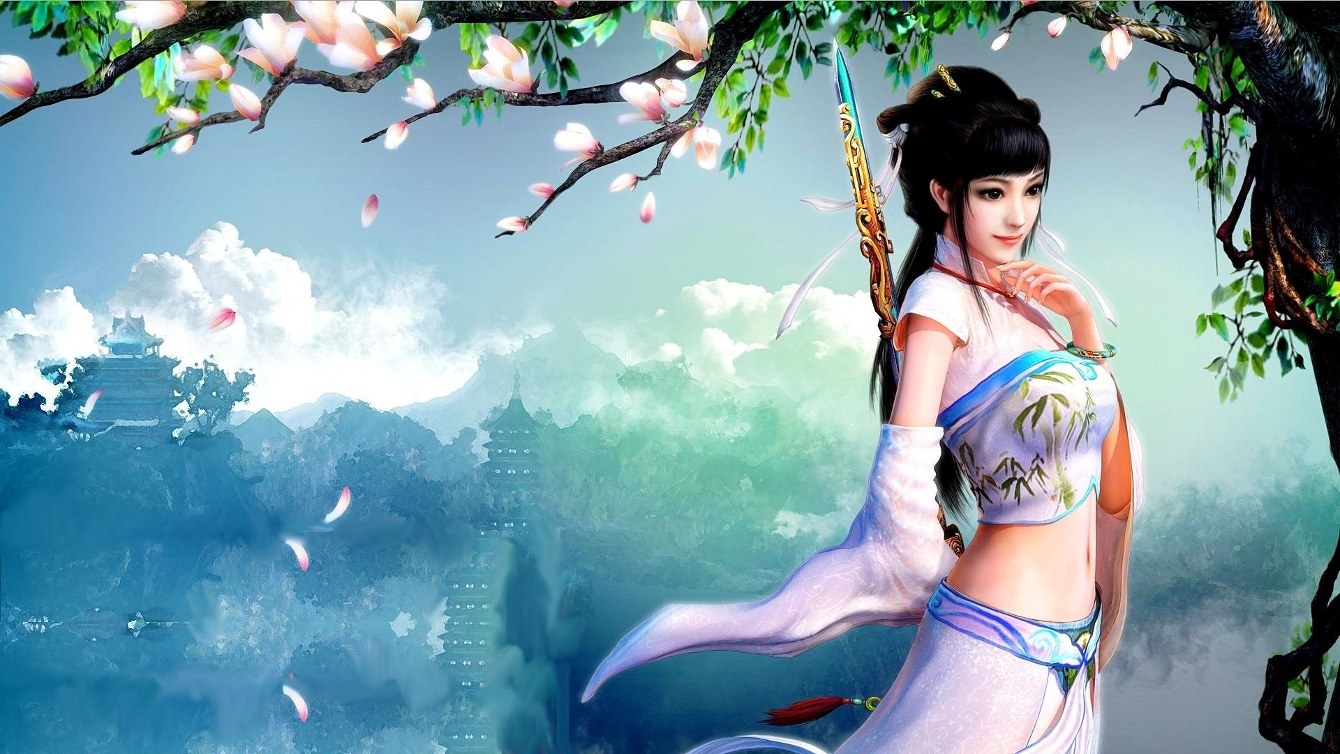 Fantasy Art Women Model Wallpapers Hd Desktop And: Asian Female Warrior Wallpaper (69+ Images