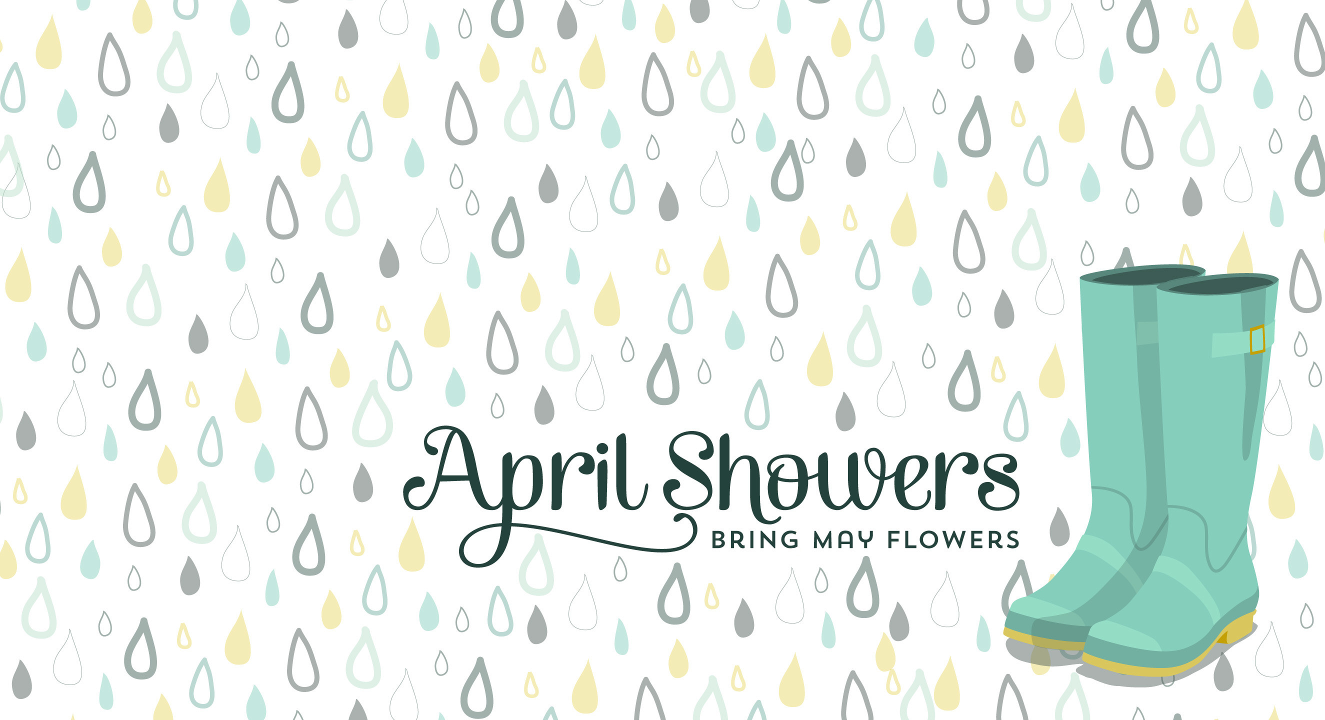 April Showers Bring May Flowers Background