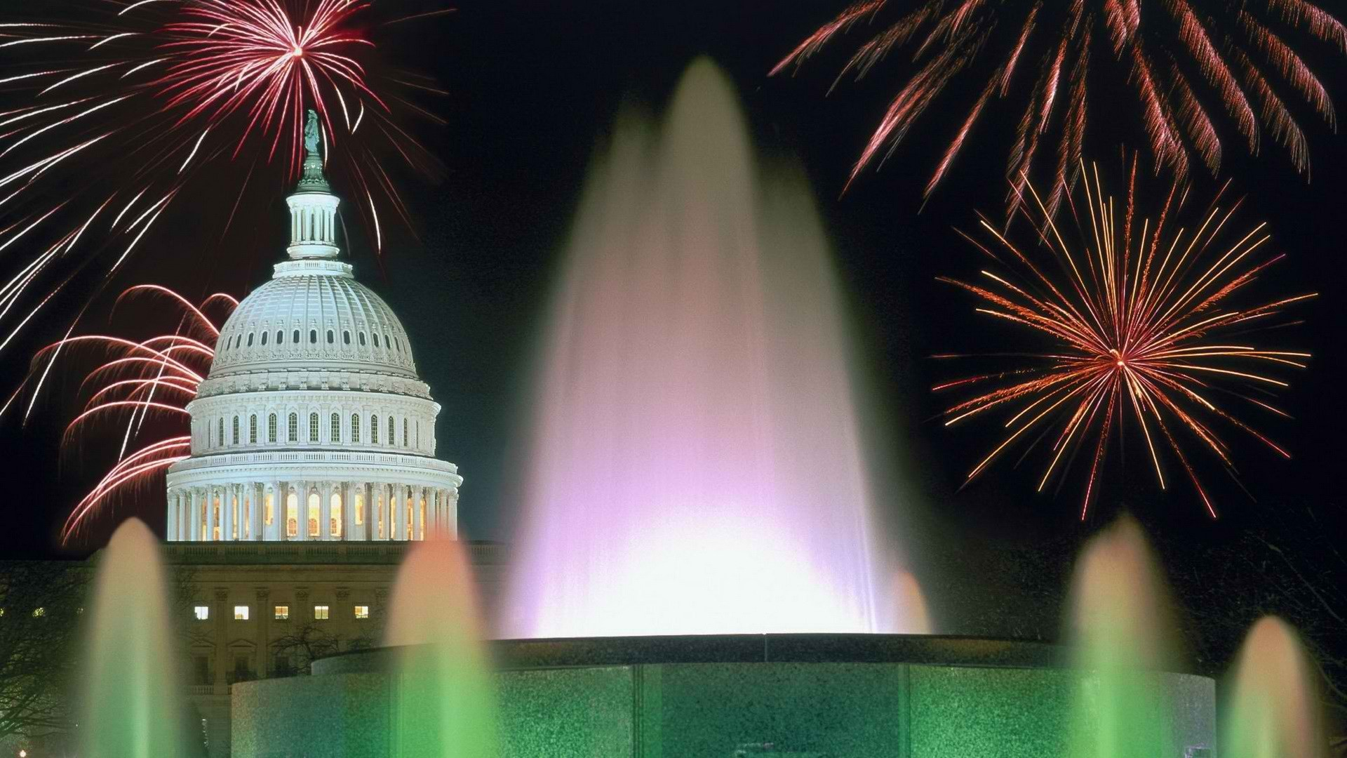 1920x1080 4th of July Fireworks in Washington DC