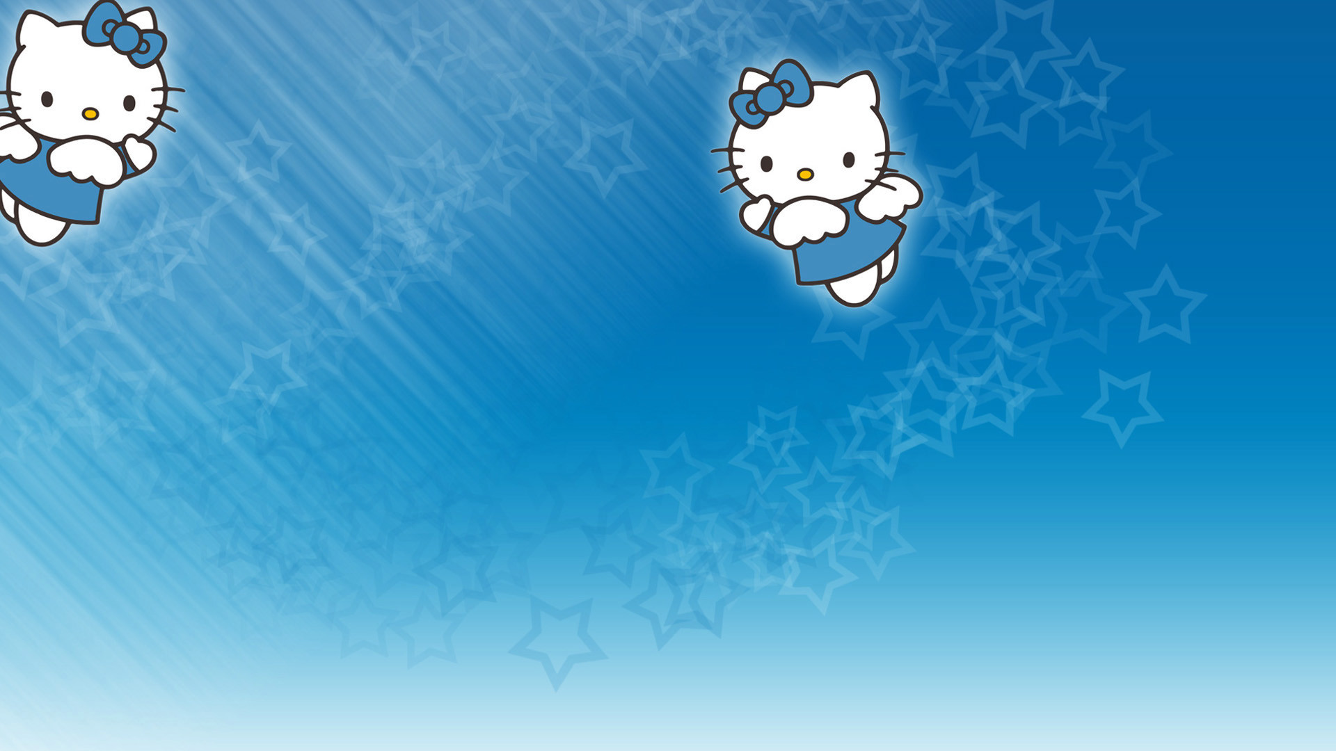 1920x1080 pretty blue backgrounds | blue, hello, kitty, background, cute, backgrounds,