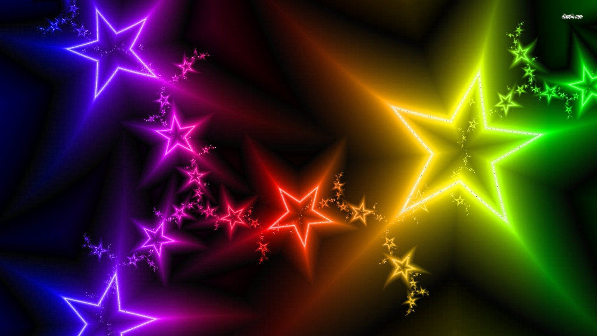 1920x1080 colorful wallpaper: Colorful Star Wallpaper (61+ Images