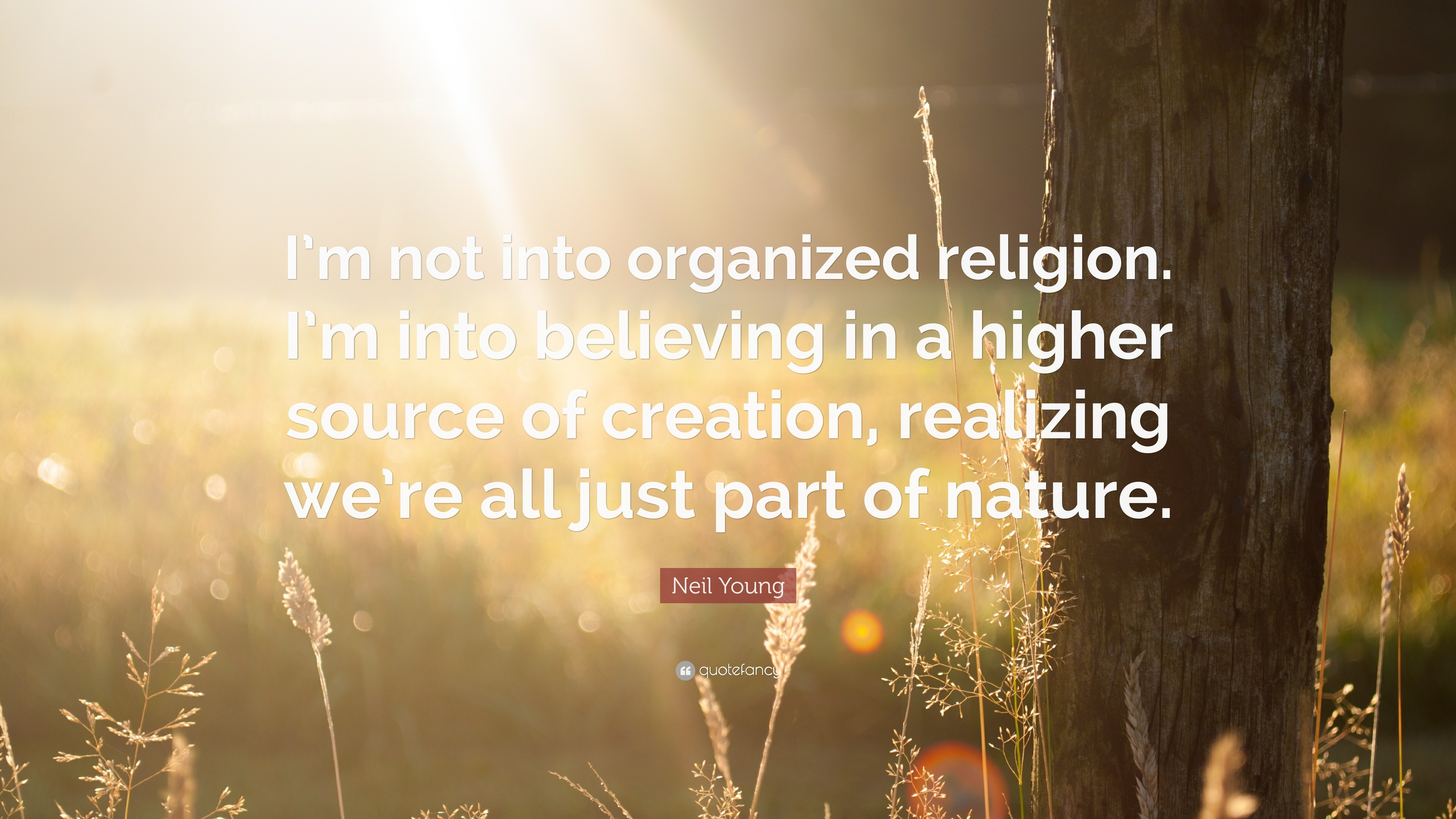 "3840x2160 Neil Young Quote: ""I'm not into organized religion. I'm"