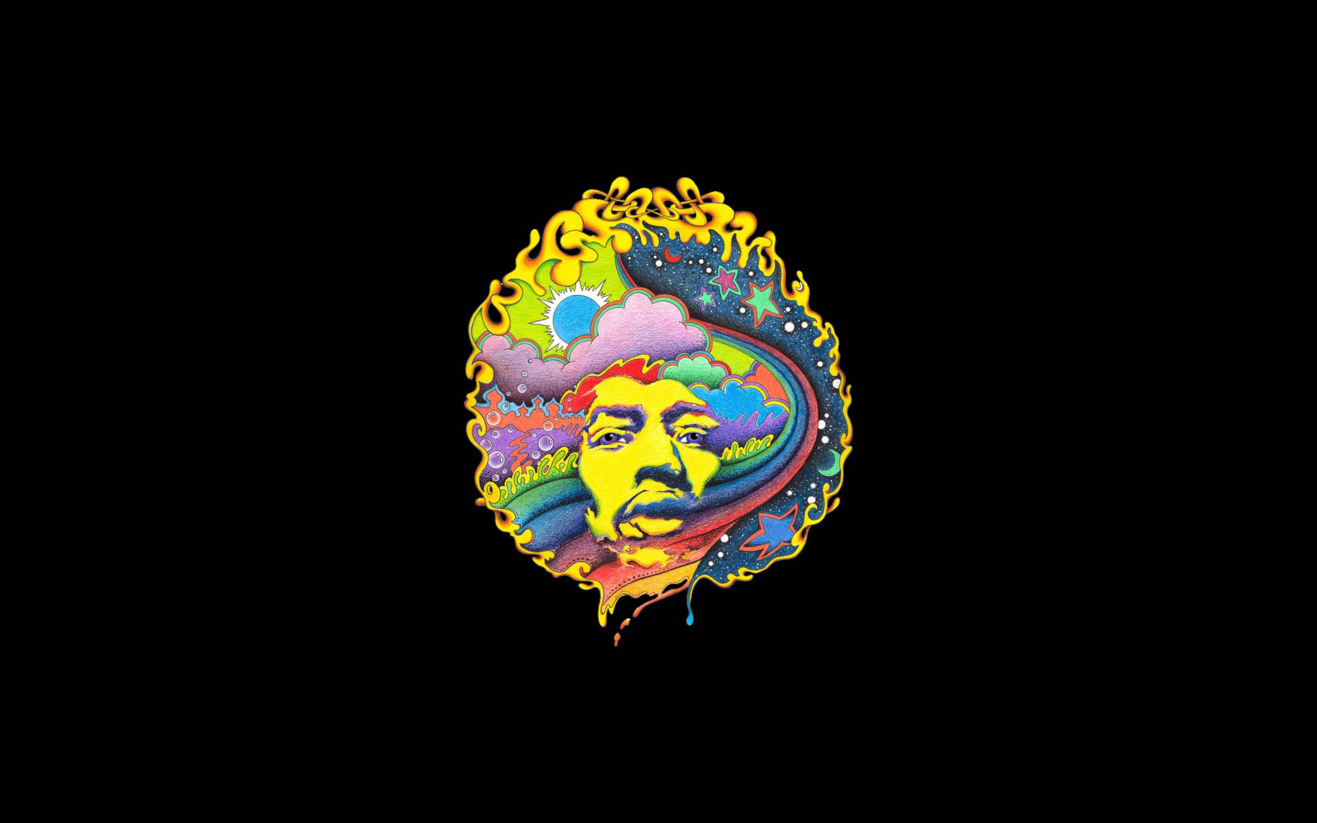 Abstract Psychedelic Art Parallax Hd Iphone: Jimi Hendrix Wallpapers (65+ Images