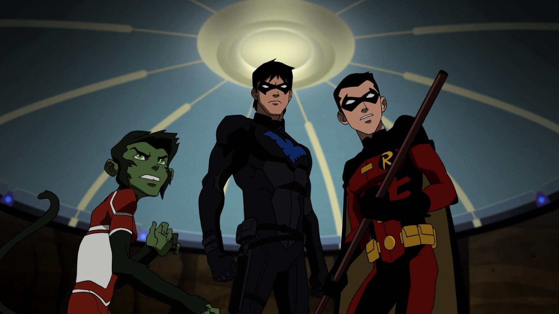 1920x1080 Young Justice – Beast Boy, Nightwing and Robin