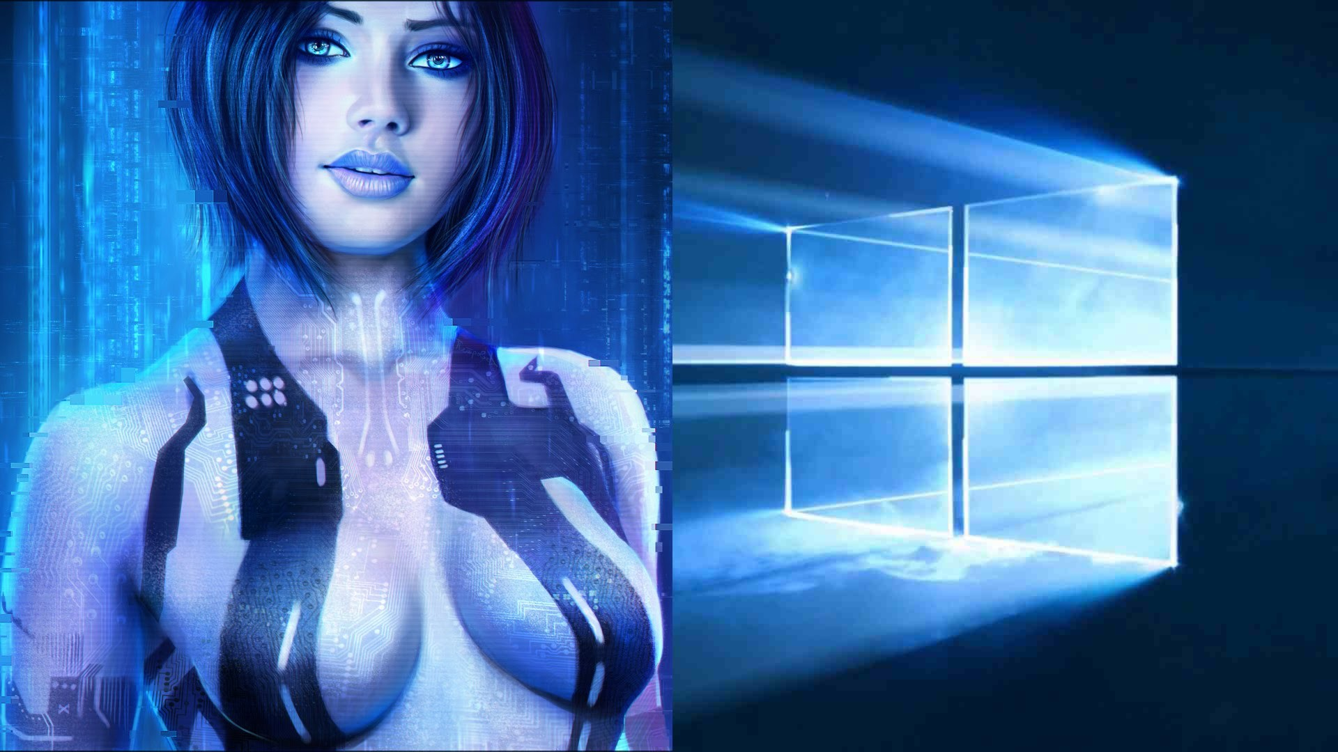 1920x1080 Windows 10 Free DownloadUpgrade MS Windows 10 OS with · cortana live  wallpaper ...