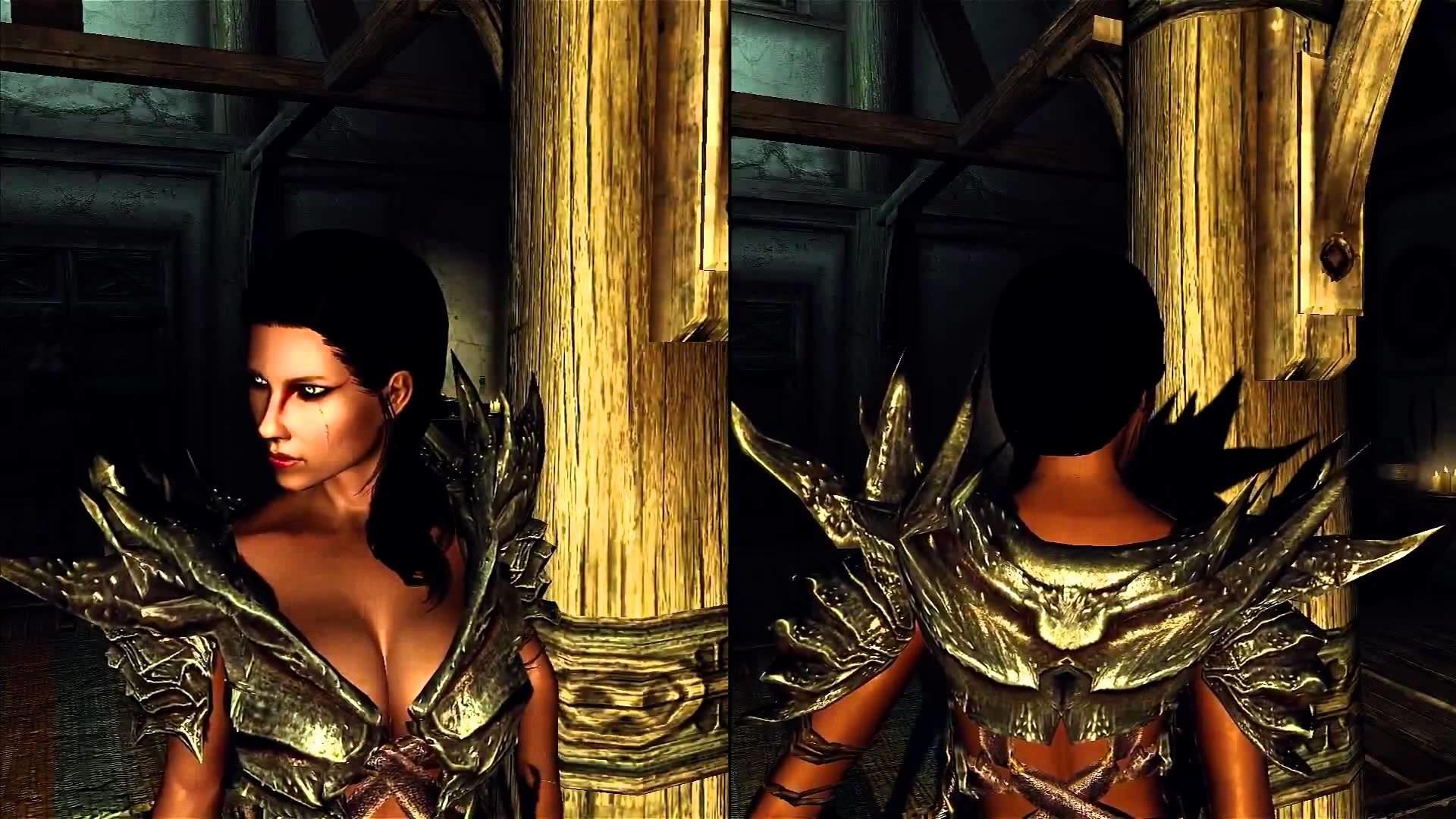 skyrim female armor mods download