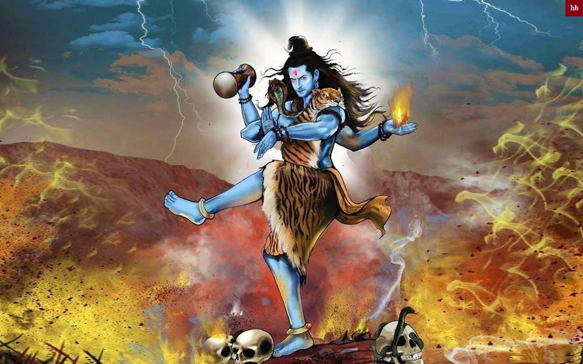 1920x1200 Lord Shiva rudra thandavam hd images