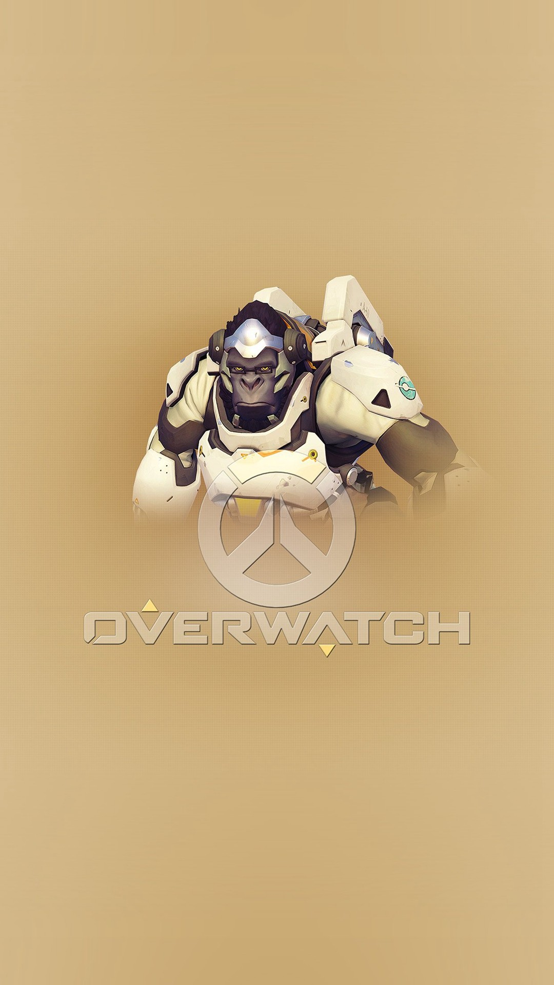 1080x1920 Overwatch Winston Cute Game Art Illustration #iPhone #6 #plus #wallpaper