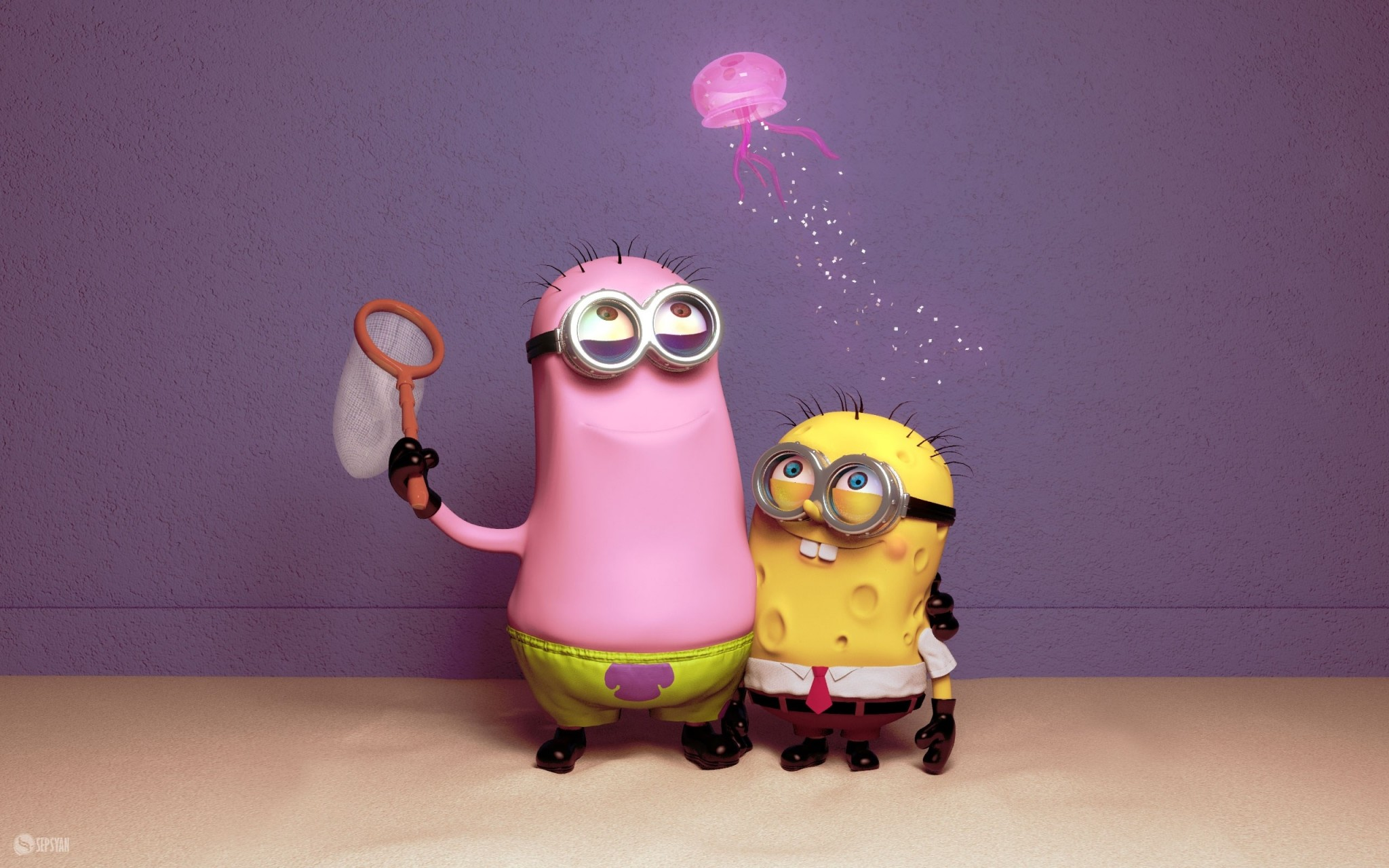 2048x1280 minion wallpaper desktop