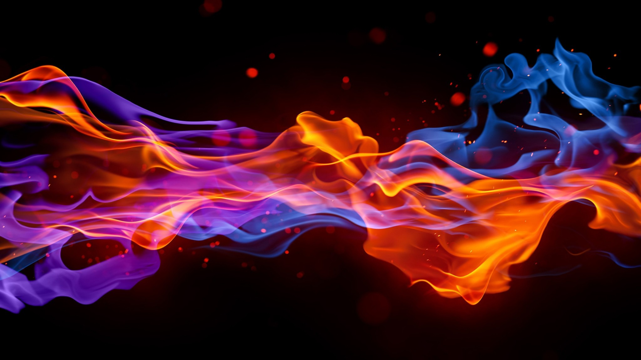 2048x1152 Download Wallpaper  Smoke, Fire, Bright, Colorful, Background .