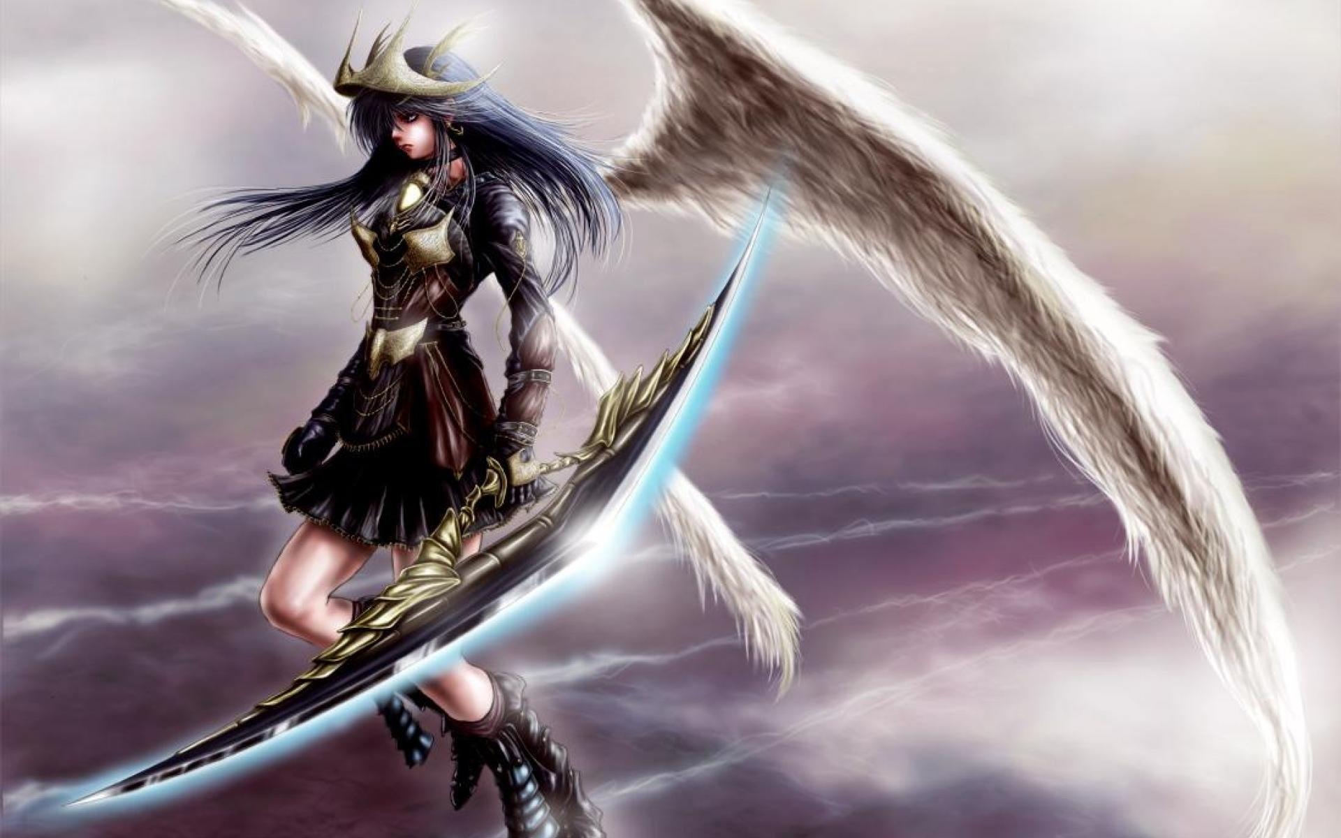 Anime warrior wallpaper 80 images - Angel girl wallpaper ...