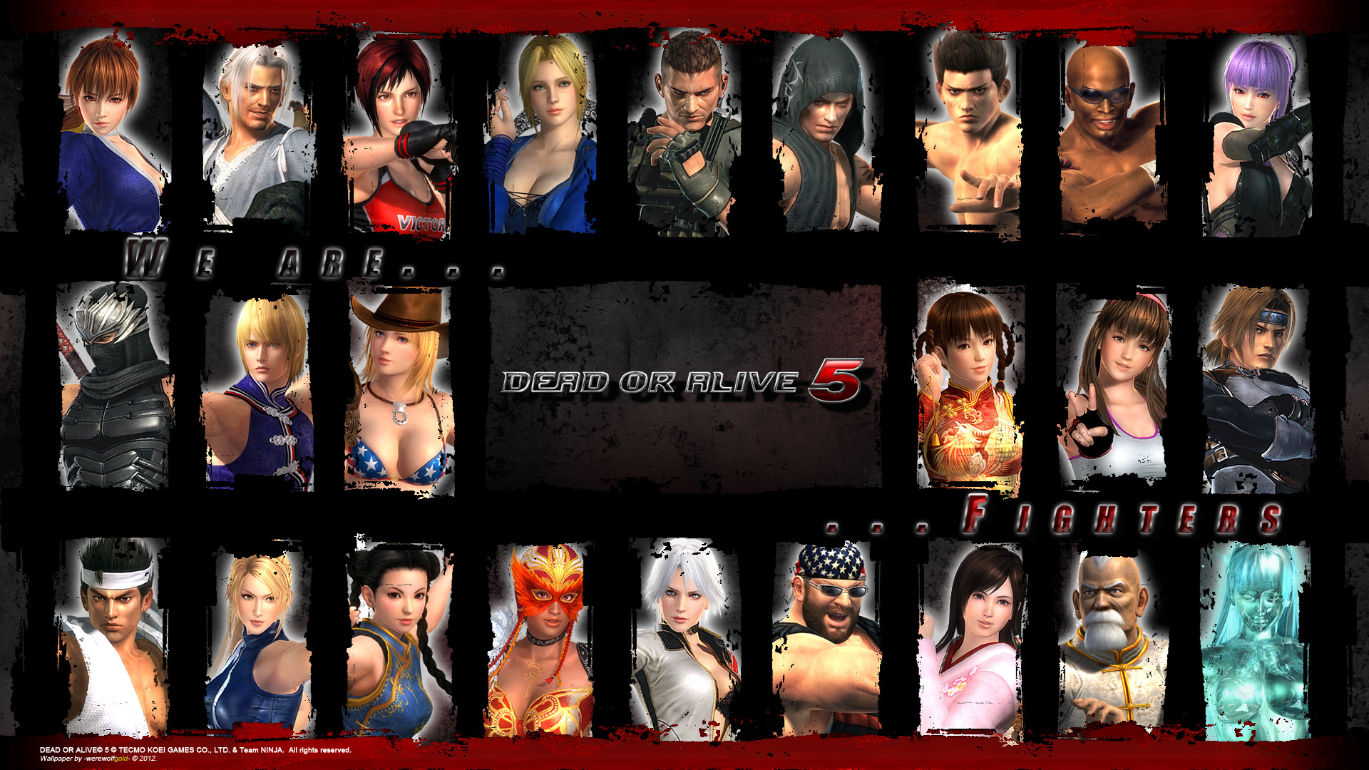 1920x1080 Image - Doa5 character compilation wallpaper by werewolfgold-d5kr7y5.jpg |  Dead or Alive Wiki | FANDOM powered by Wikia